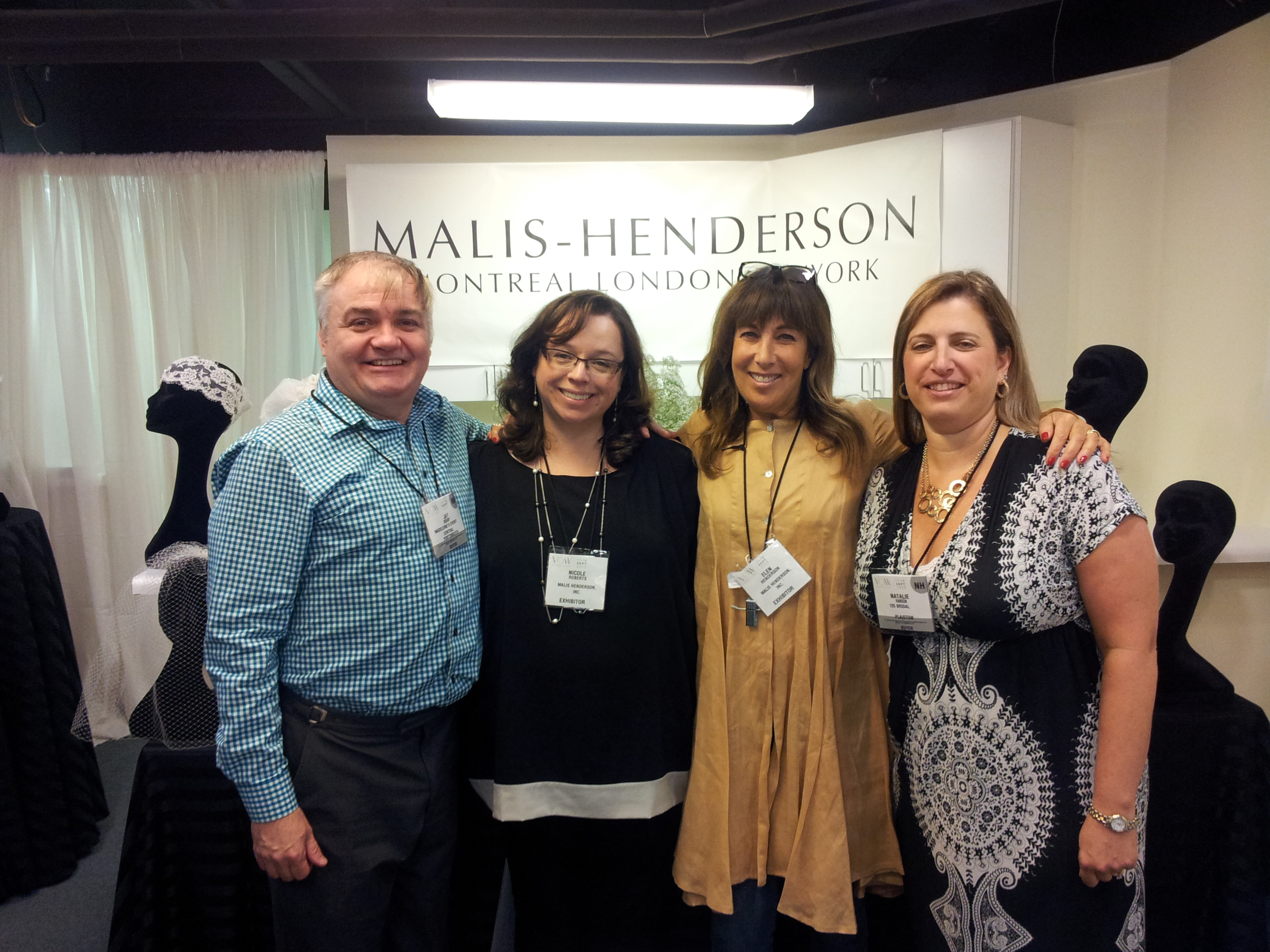 Elen & Nicole (center) with Jay & Natalie from 125 Bridal in Plaistow, NH