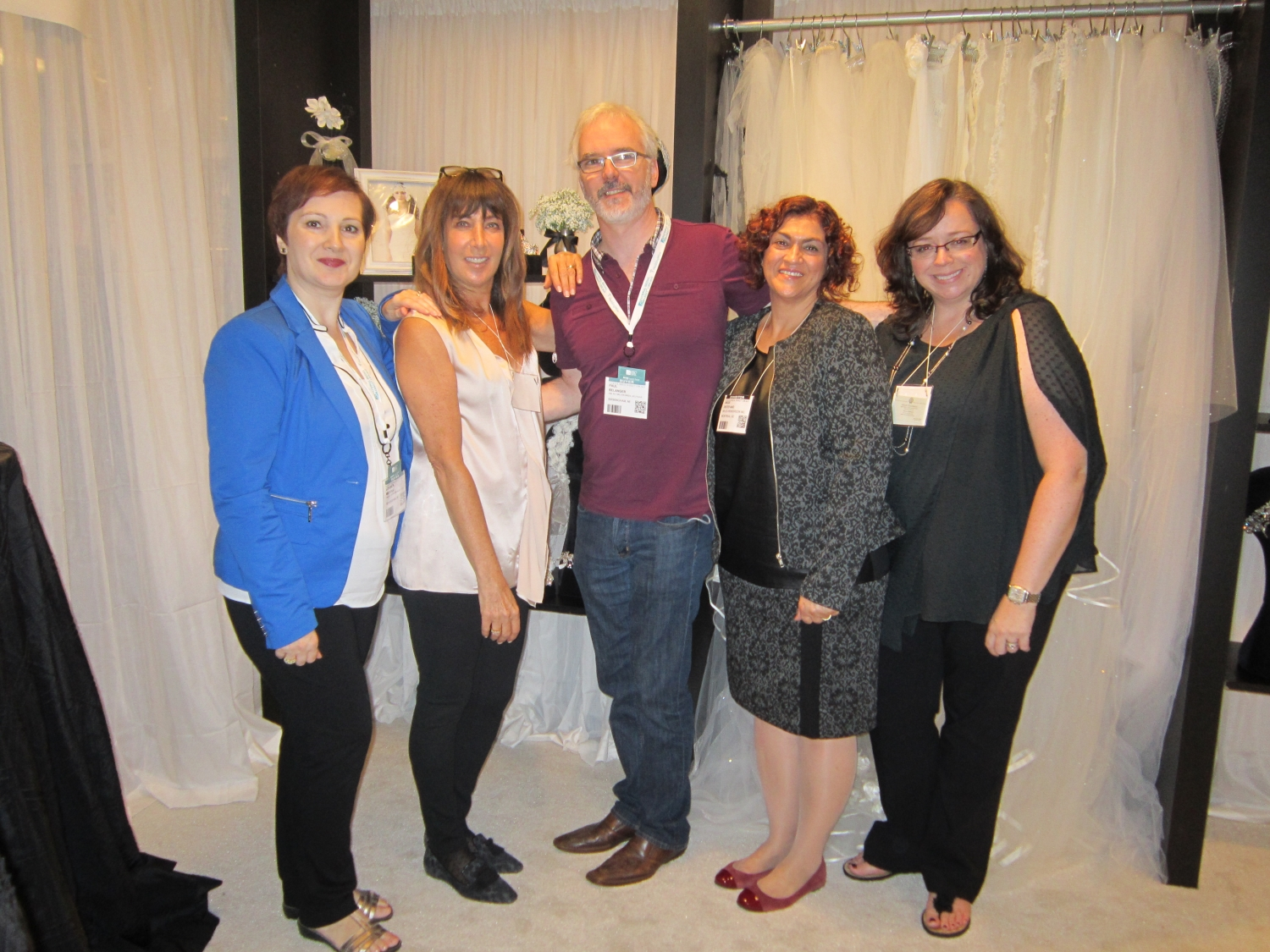 Lorenza (L) and Paul from One In A Million in Birmingham, MI with Elen, Angie, and Nicole from Malis-Henderson