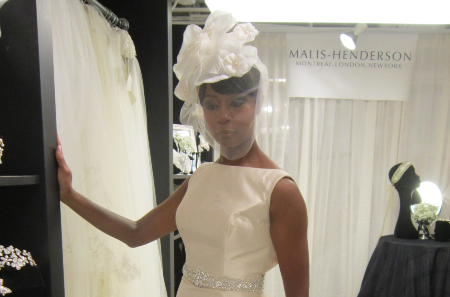 Tanyashows one of the runway headpieces for the DEBI's