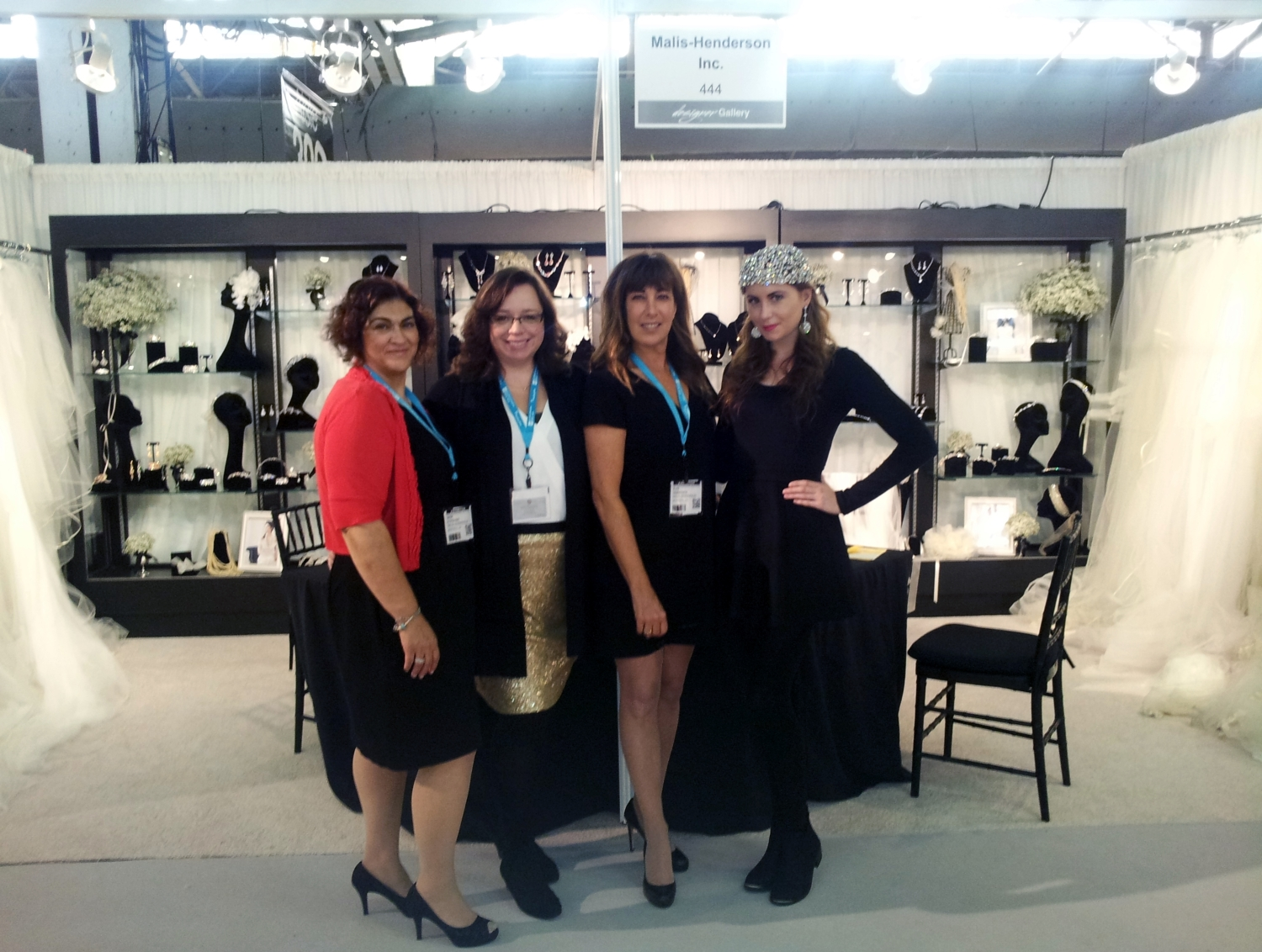 Angie, Nicole, and Elen stand with Nicky, the beautiful New York model.