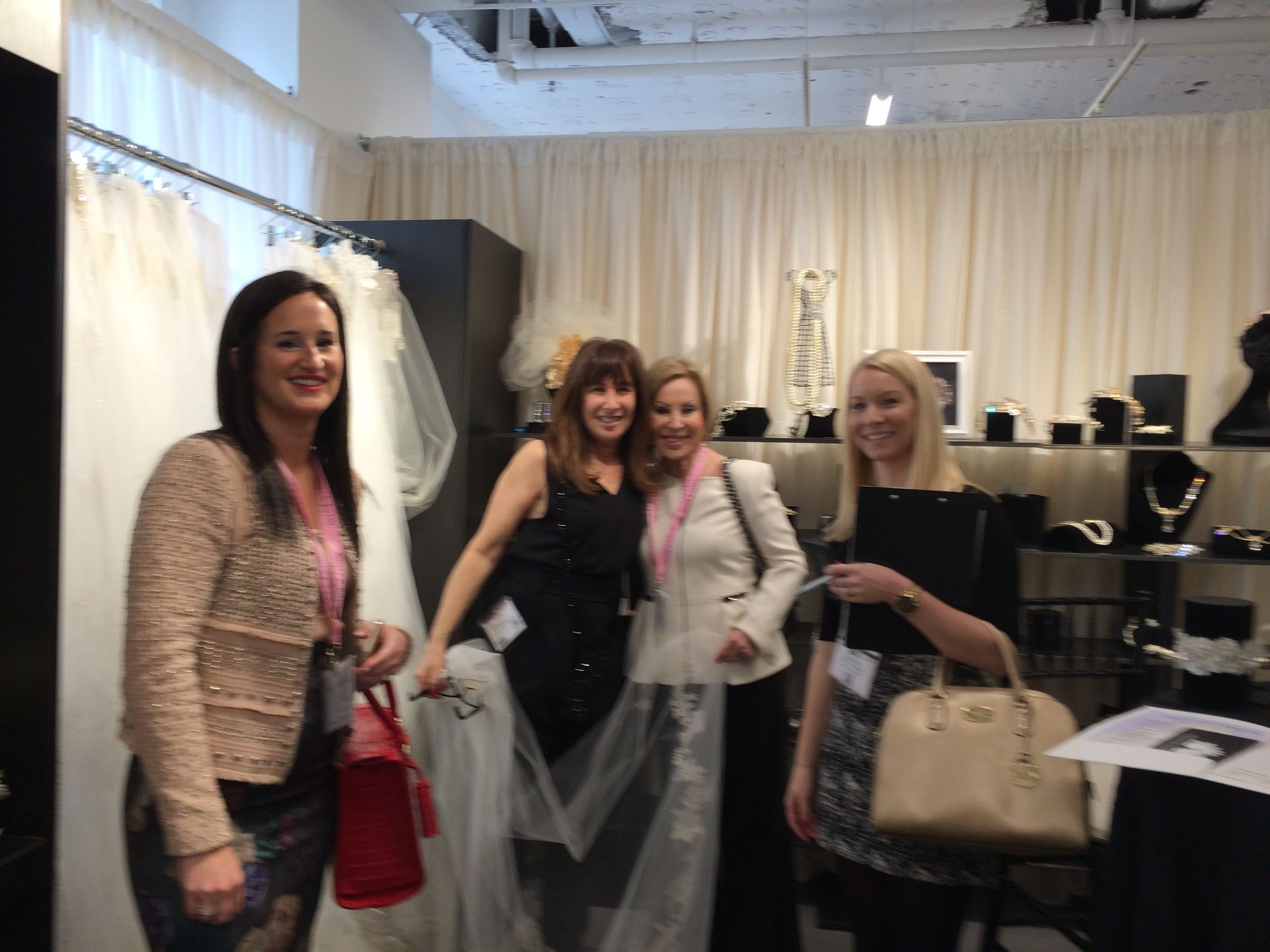 Julie (L) and staff of Mira Couture of Chicago gave us a home-town welcome.