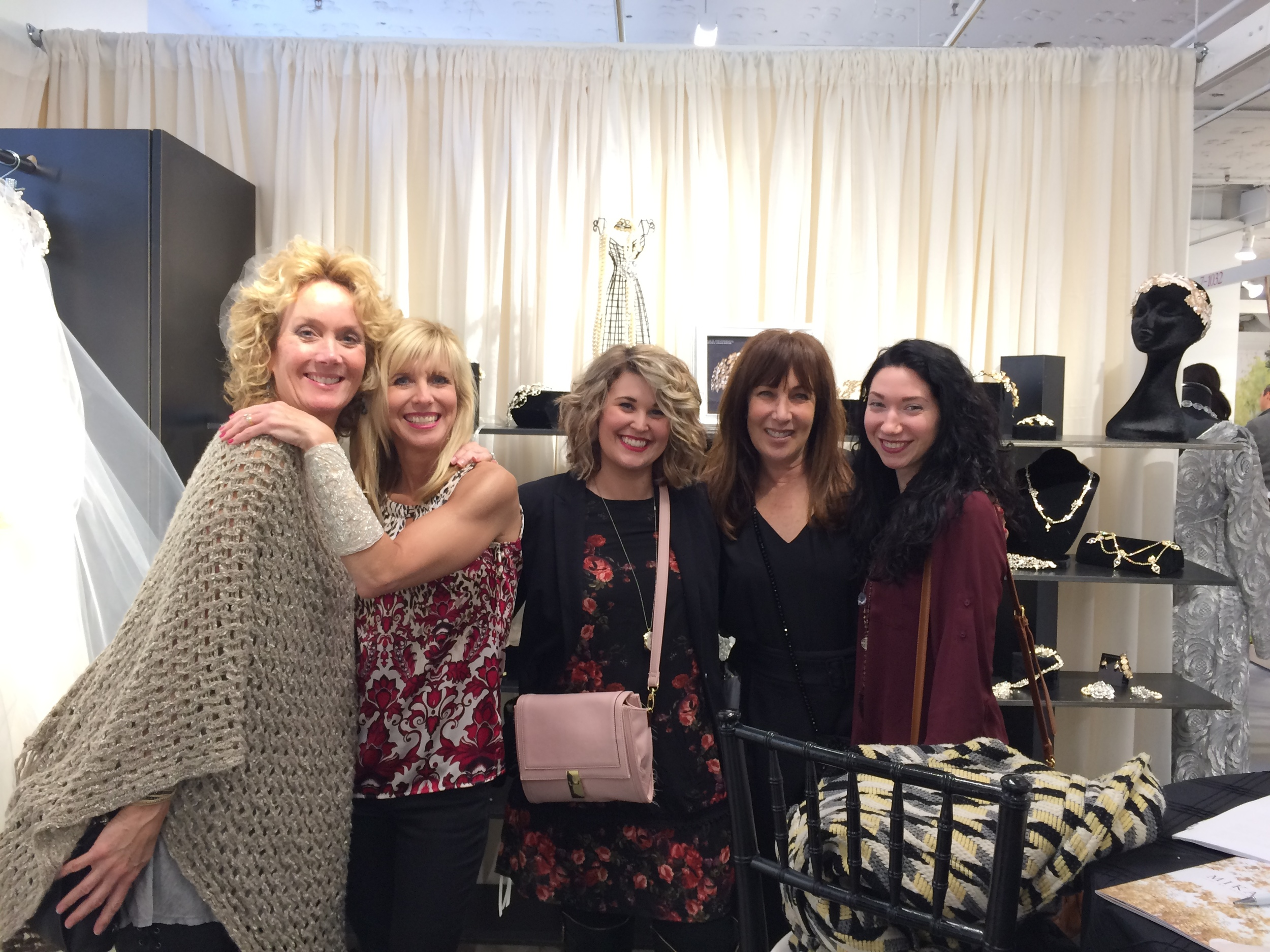 Rebecca (L) and her staff from Rebecca's Bridal Boutique always bring a smile from Louisville KY