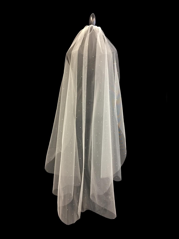 Style V5709-D __ 60x108 Beaded Veil