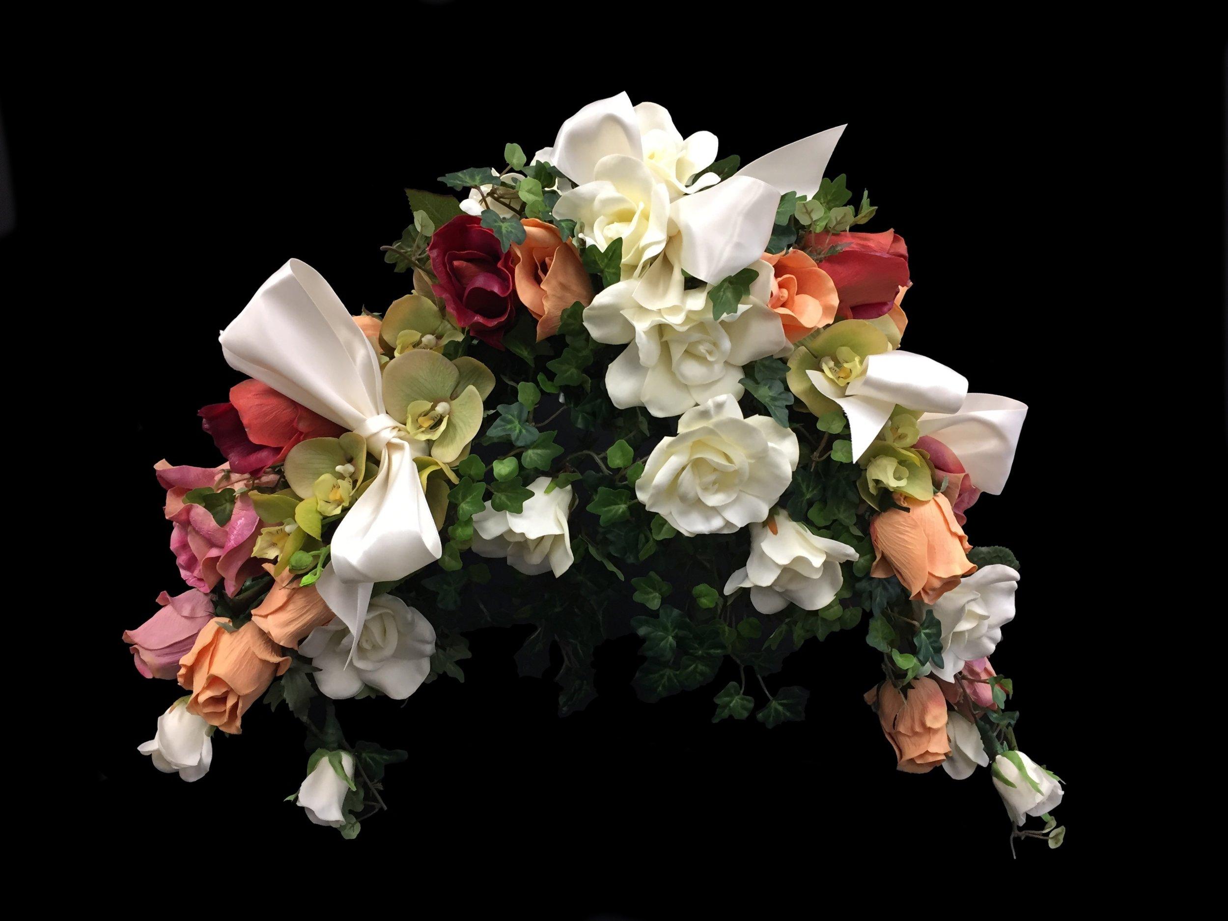 """7933BQ-DI BRIDAL BOUQUET (not a headpiece) - """"True Touch Flowers"""""""