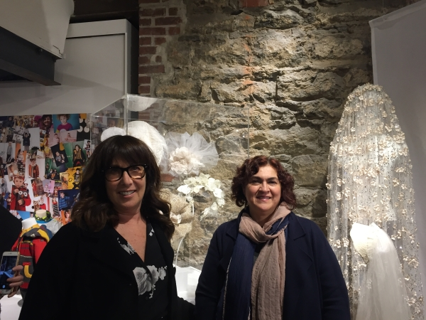 Elen with Angie in front of some of the styles in our exhibit