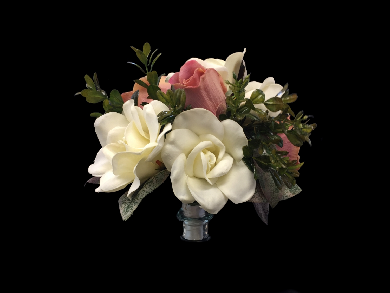 "7942BQ-DI BRIDAL BOUQUET (not a headpiece) - ""True Touch Flowers"" (Approx 8"" Diam)"