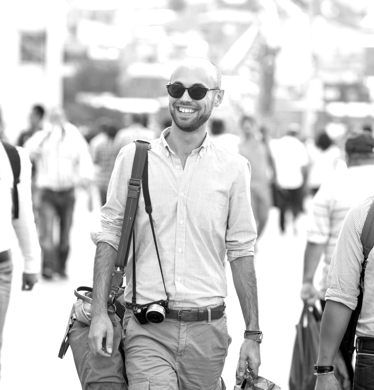 Recent trip to Istanbul, walking across the Bosphorus looking rather safari-like.