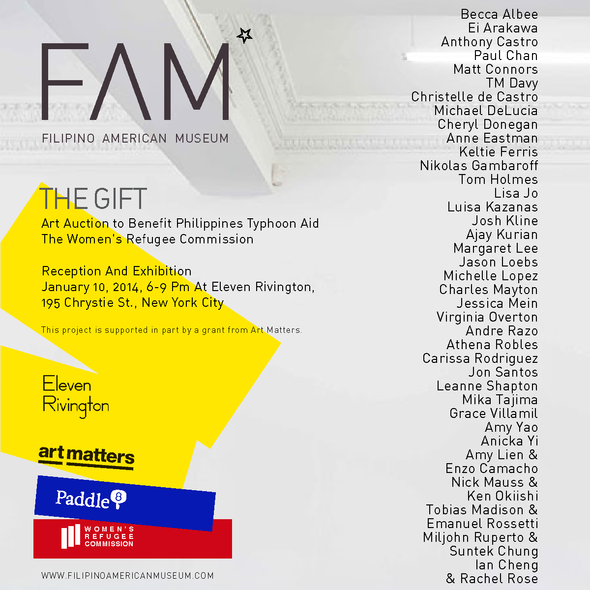 Come out to the group show supporting aid for Typhoon Haiyan!