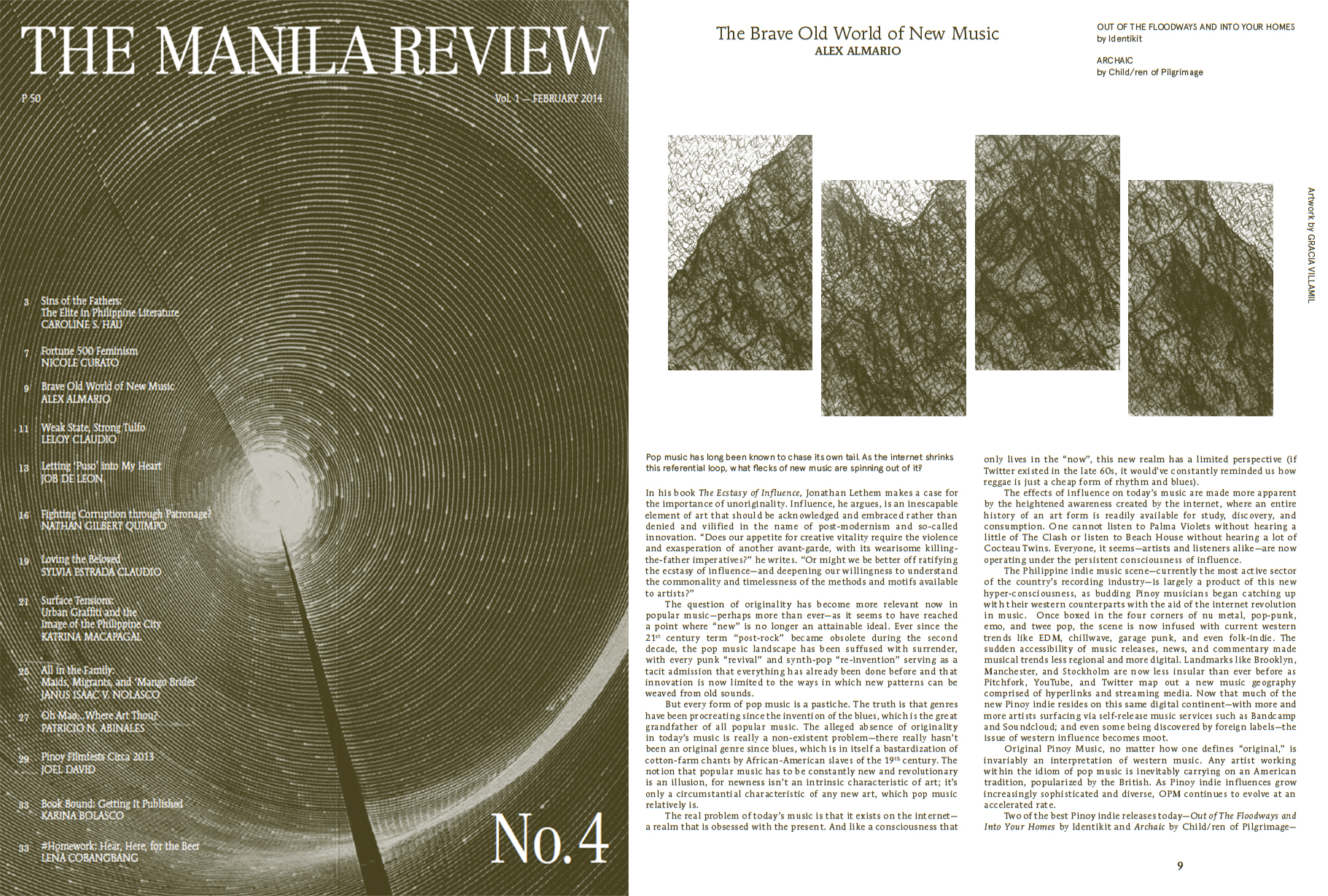 Manila Review  Feb 2014 A portion from my LAAND drawings are included on Pg. 9