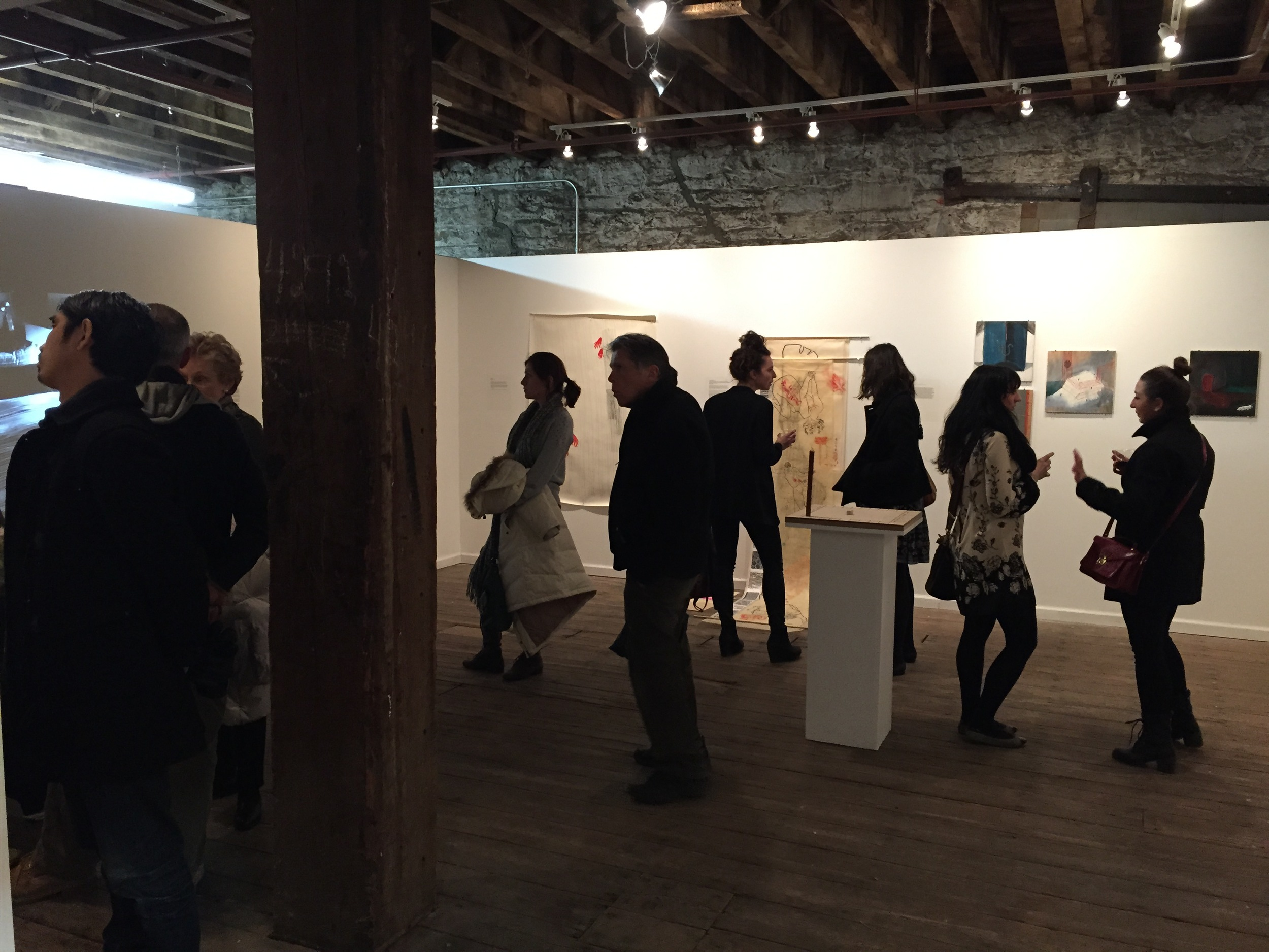 Engaging Artists Opening night in the Hot Wood Arts gallery (3-28-15)