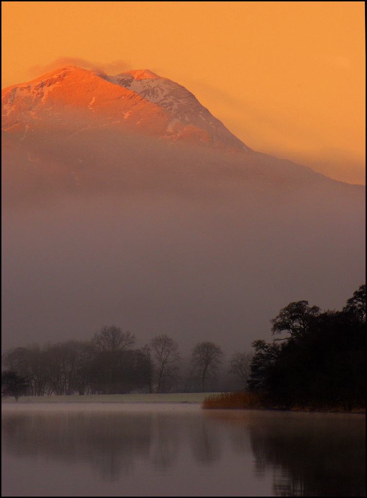Looking west down Loch Ard to Ben lomond