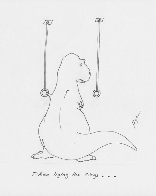 Hooray for longer arms than T-Rex! You'll need them for this WOD!