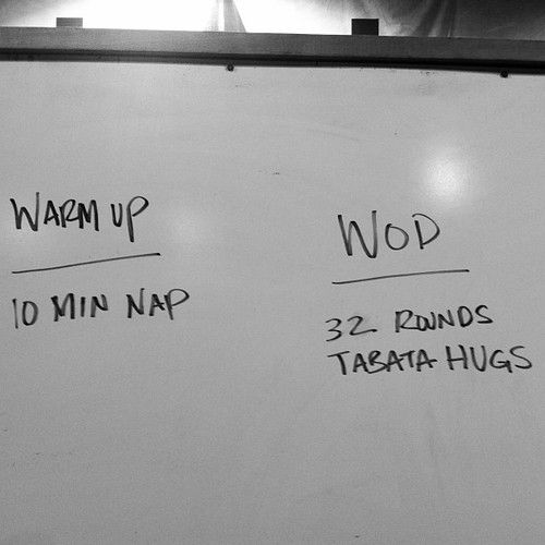 Sorry guys, not the TABATA I was talking about! But how 'bout that warm up?