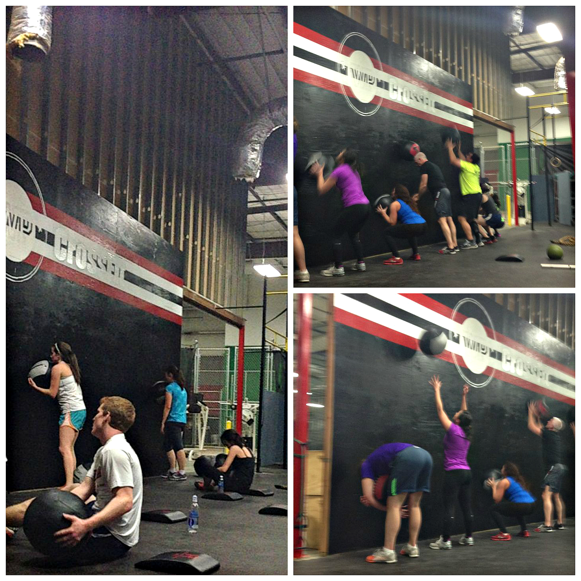 Remember the wall ball WOD with the burpee penalty? Here you all are with  awesomely  creative ways to keep the ball from touching the ground! Good news... this Games Open 11.5 WOD does not have this penalty!  :)