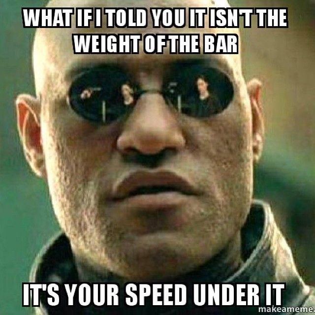 What?! MIND BLOWN! Good advice for your olympic lifts!
