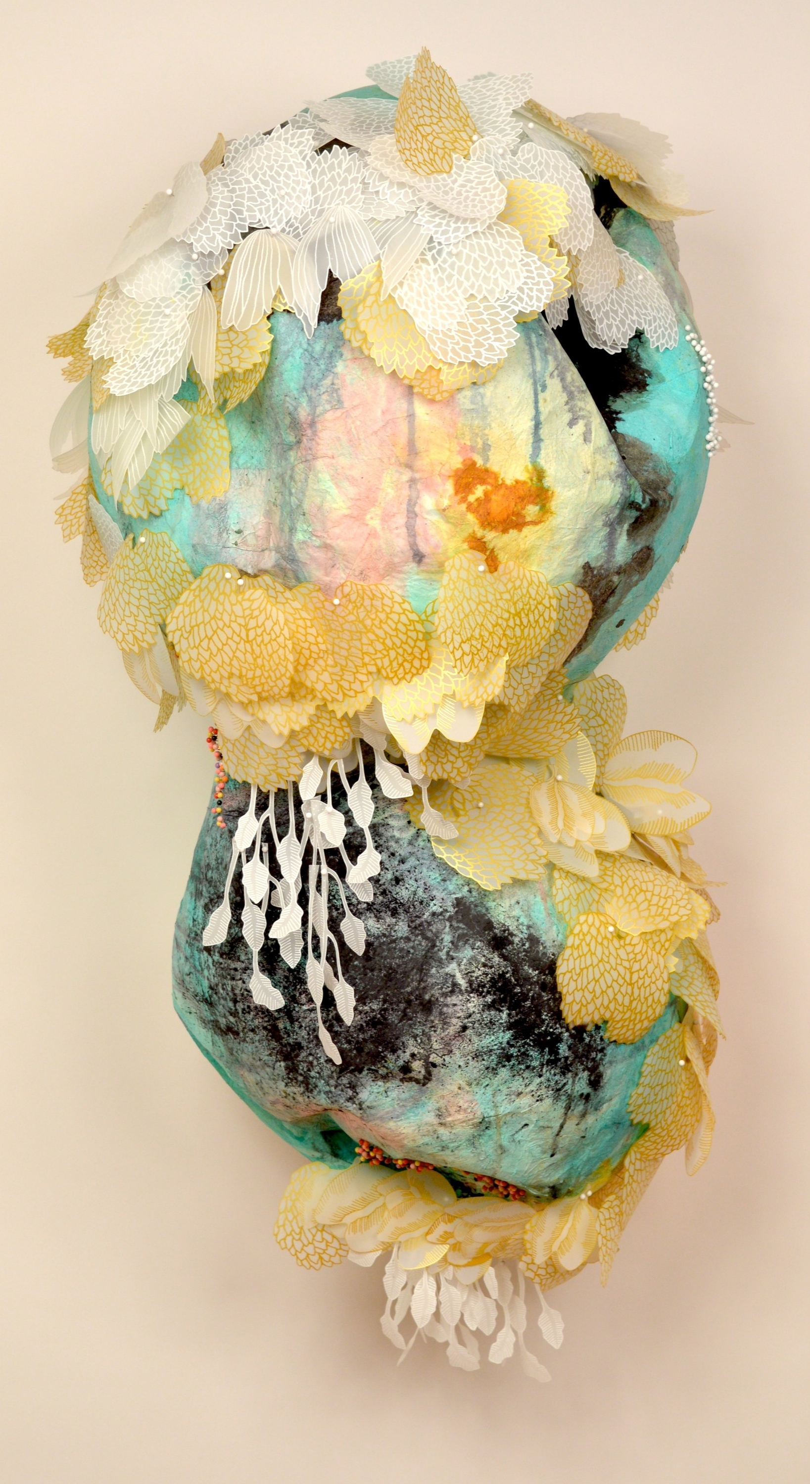 Solastalgic Dream by Terri Fidelak, 2015, mixed media, 5'x2.5'x2'