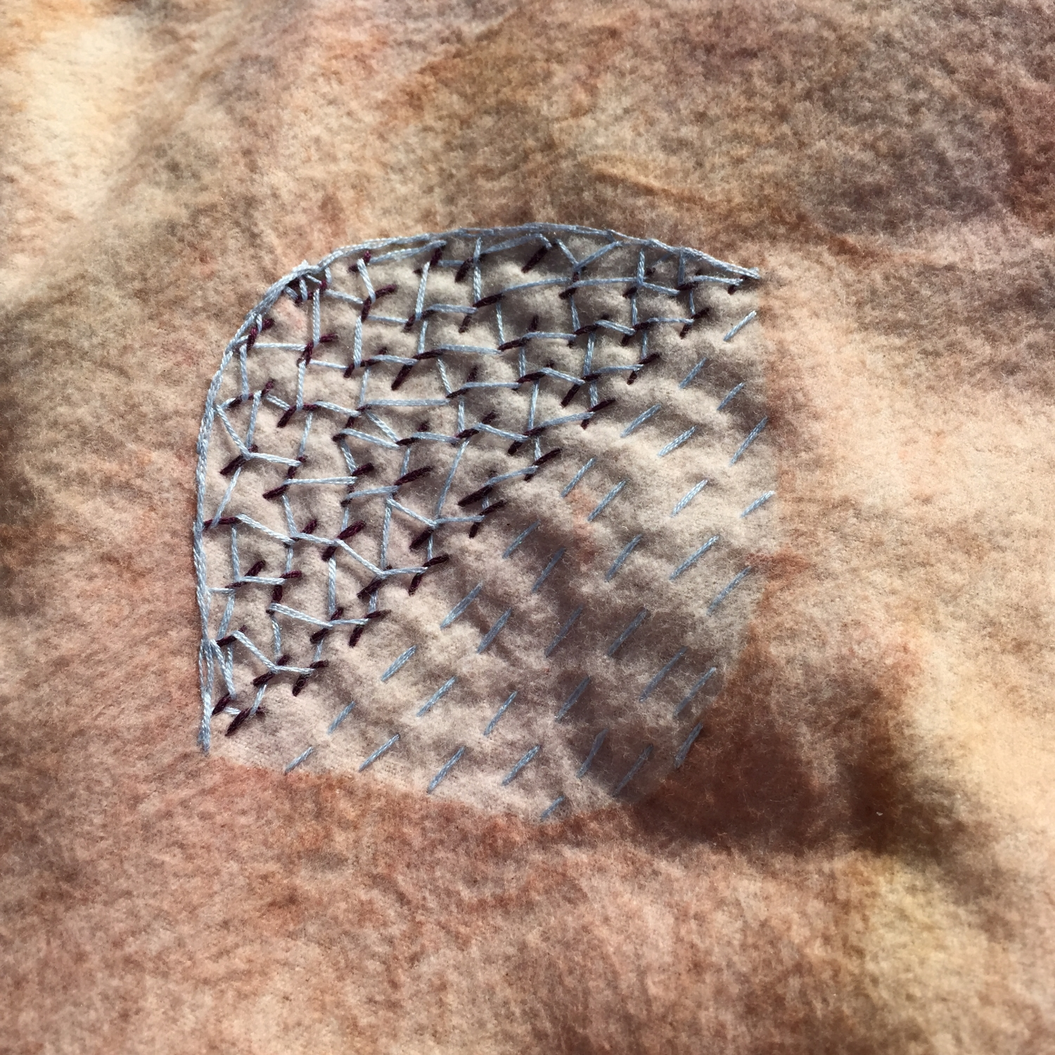 Earth Blanket Detail by Terri Fidelak & collaborators, 2015