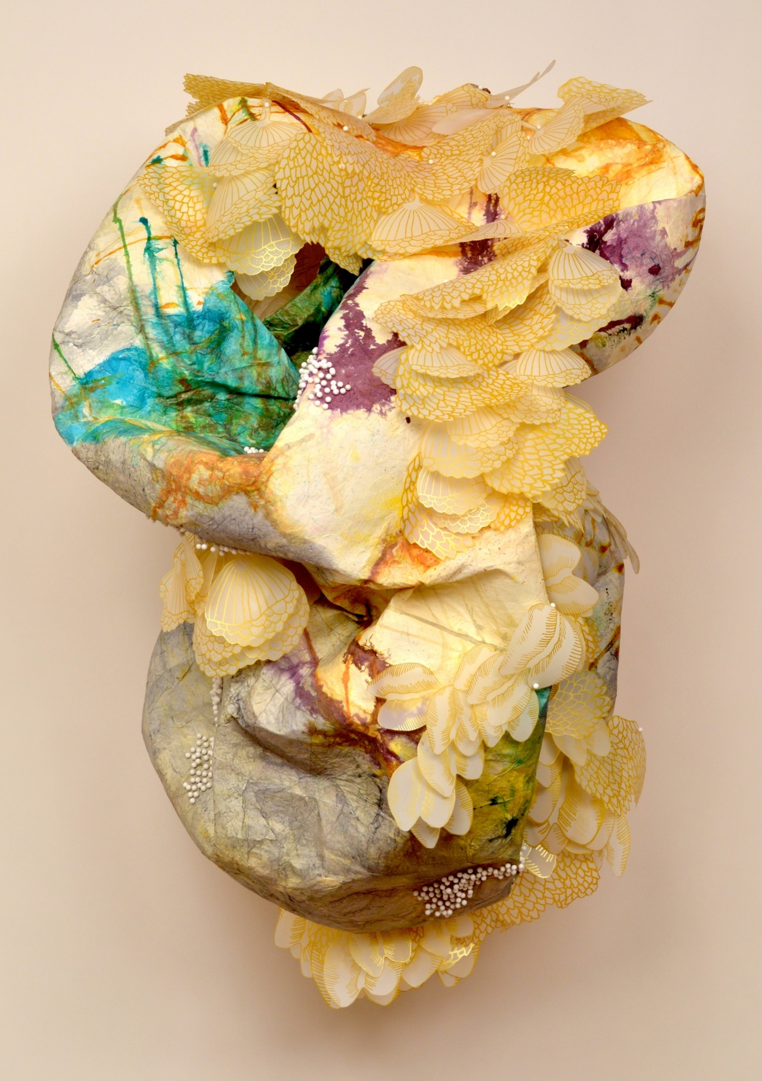 Solastalgic Dream by Terri Fidelak, 2015, mixed media, 4.5'x3.5'x2'