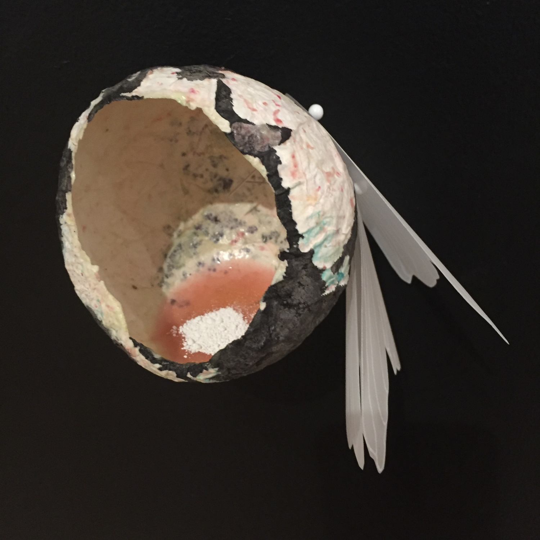 "Solastalgic Dream (installation view) by Terri Fidelak, 2015, mixed media, 3.5""x3""x3"""