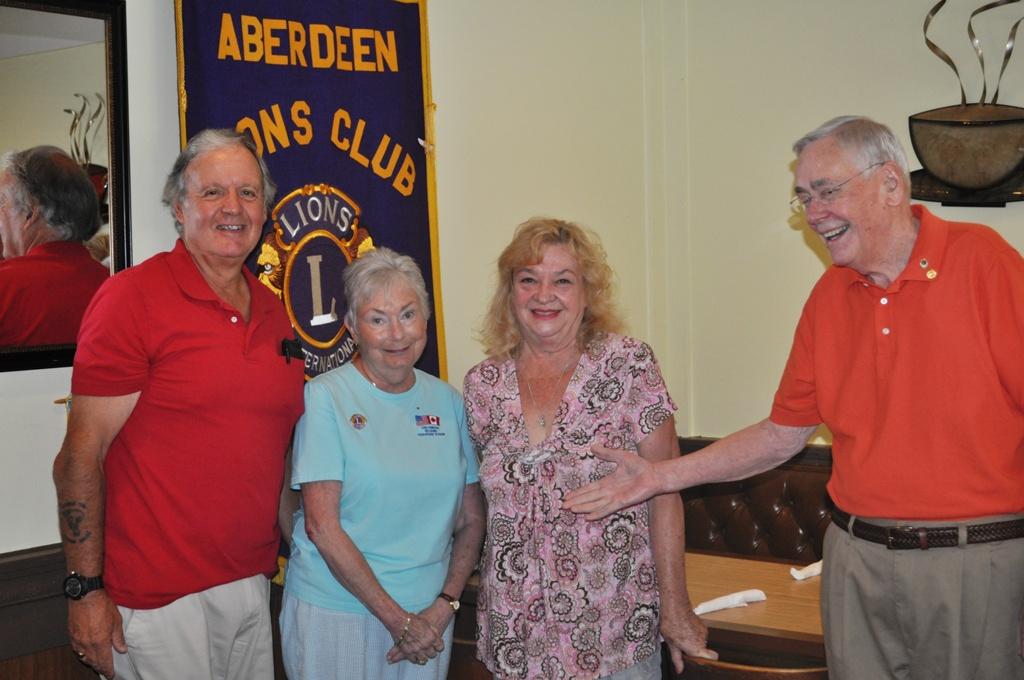 Lions Arnie, Barbara, Janice and Brad