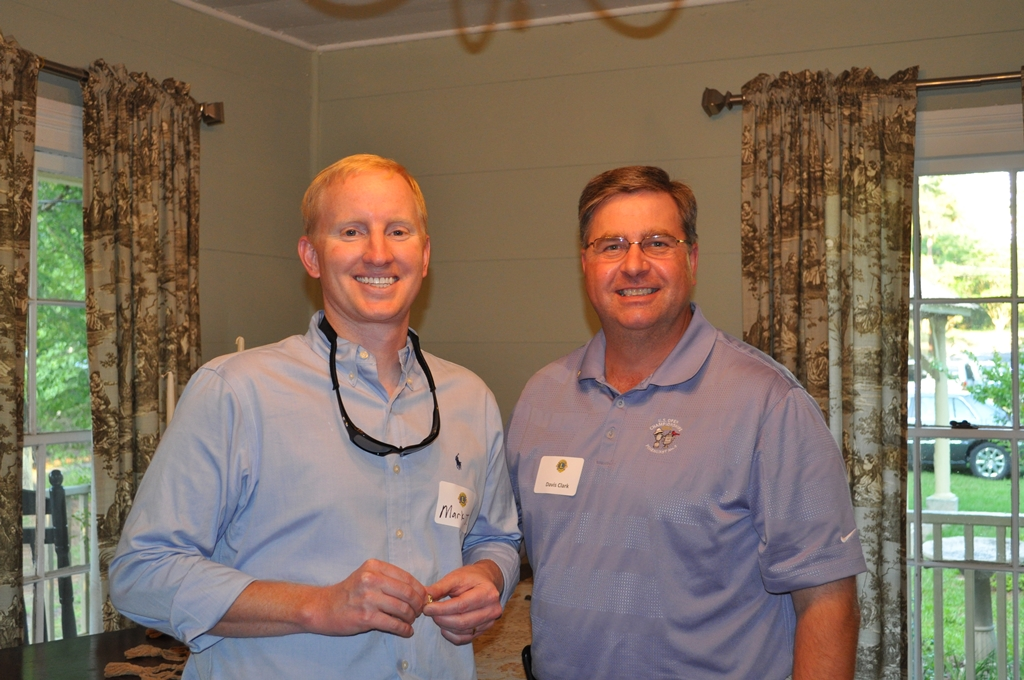 Lion Mark Jessup and his sponsor Lion Davis Clark.