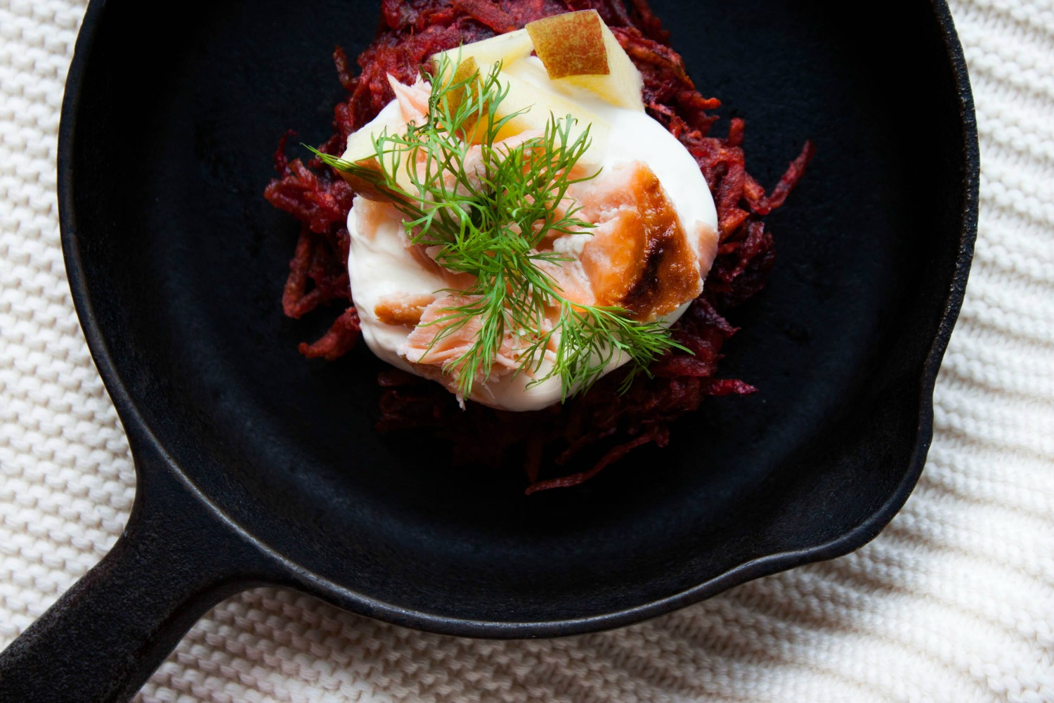 beet & potato latkes :: my blue&white kitchen