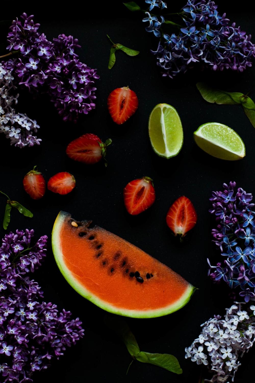 Strawberry Watermelon Yogurt Popsicles | my blue&white kitchen