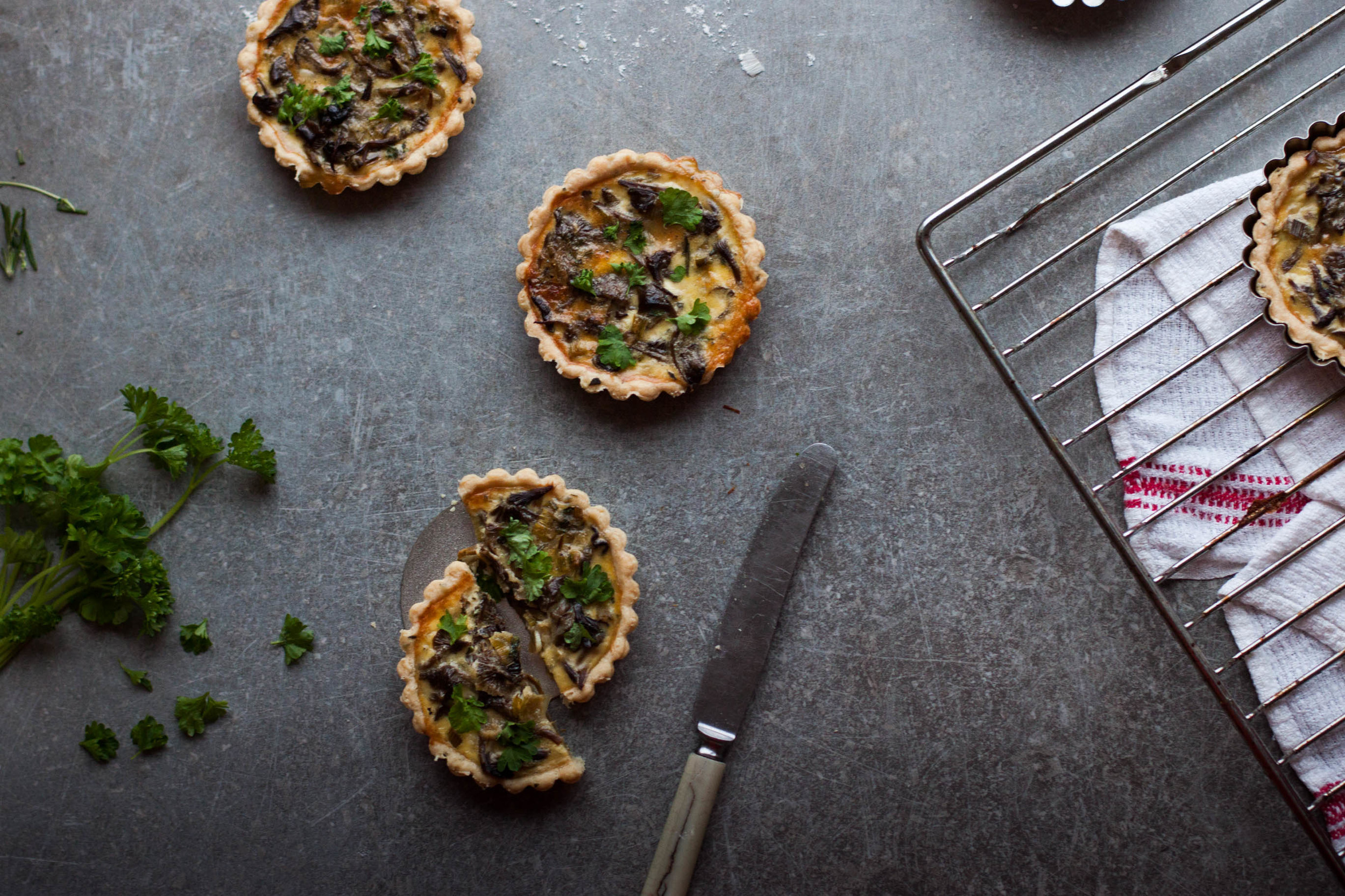 Funnel Chanterelle Tartlets | My Blue&White Kitchen
