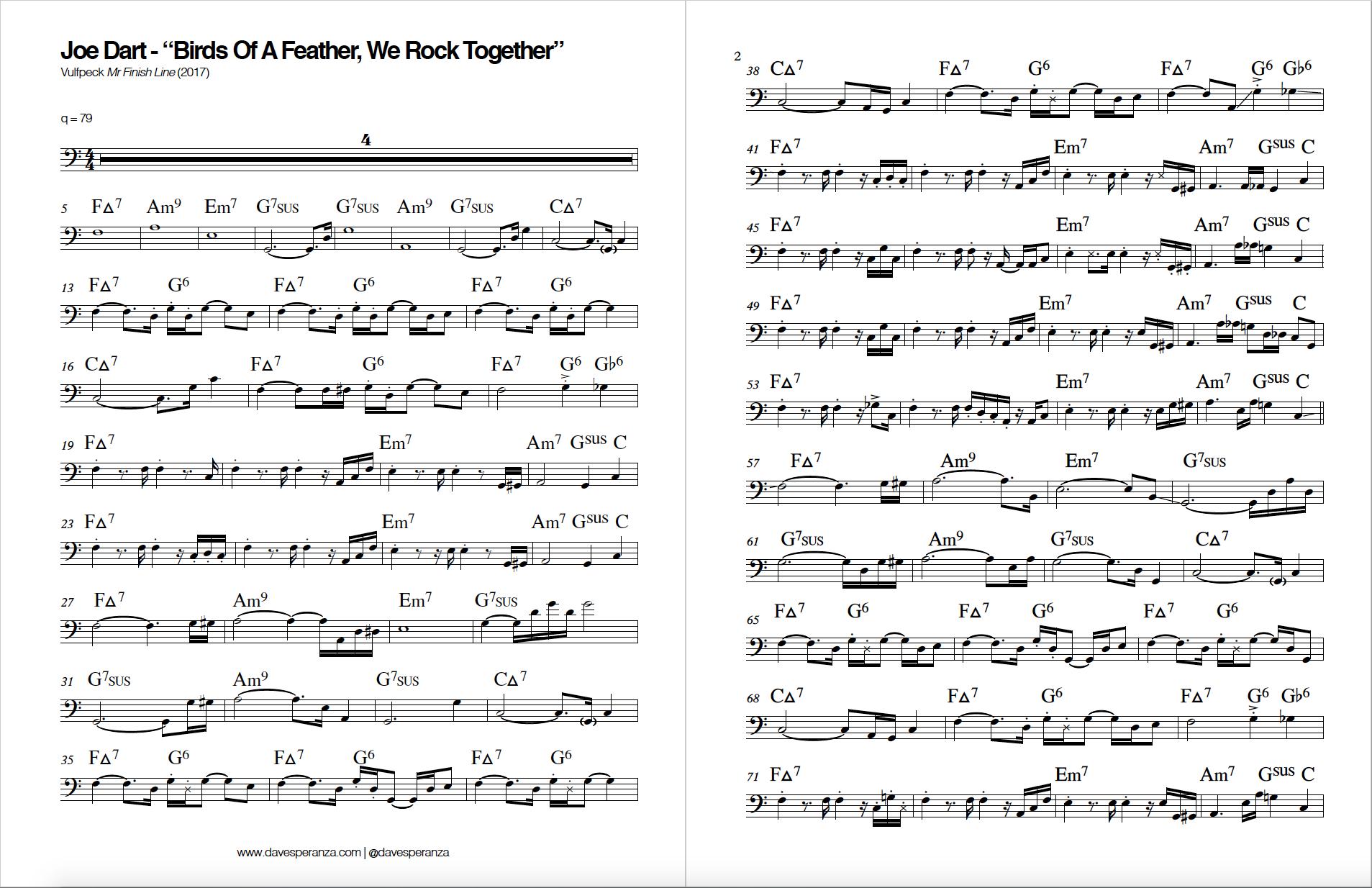 Joe Dart.Birds of a Feather.Bass transcription.Vulfpeck.png