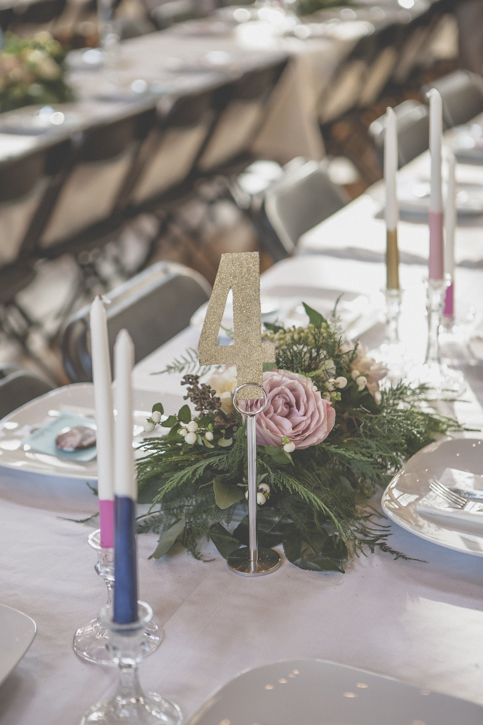 Country Wedding Floral Centerpiece