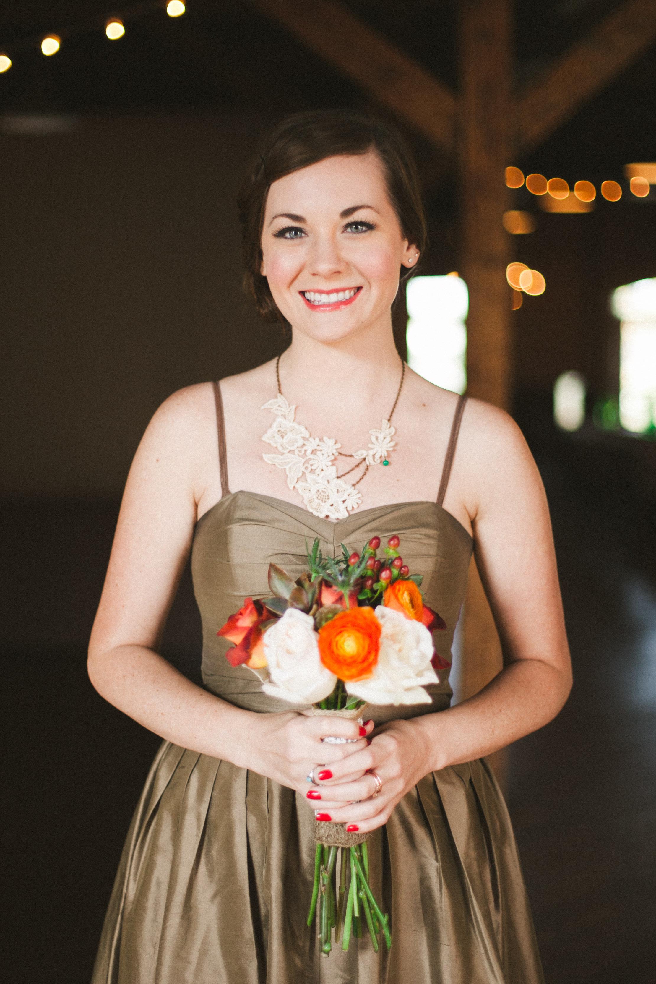 October Bridesmaid Bouquet
