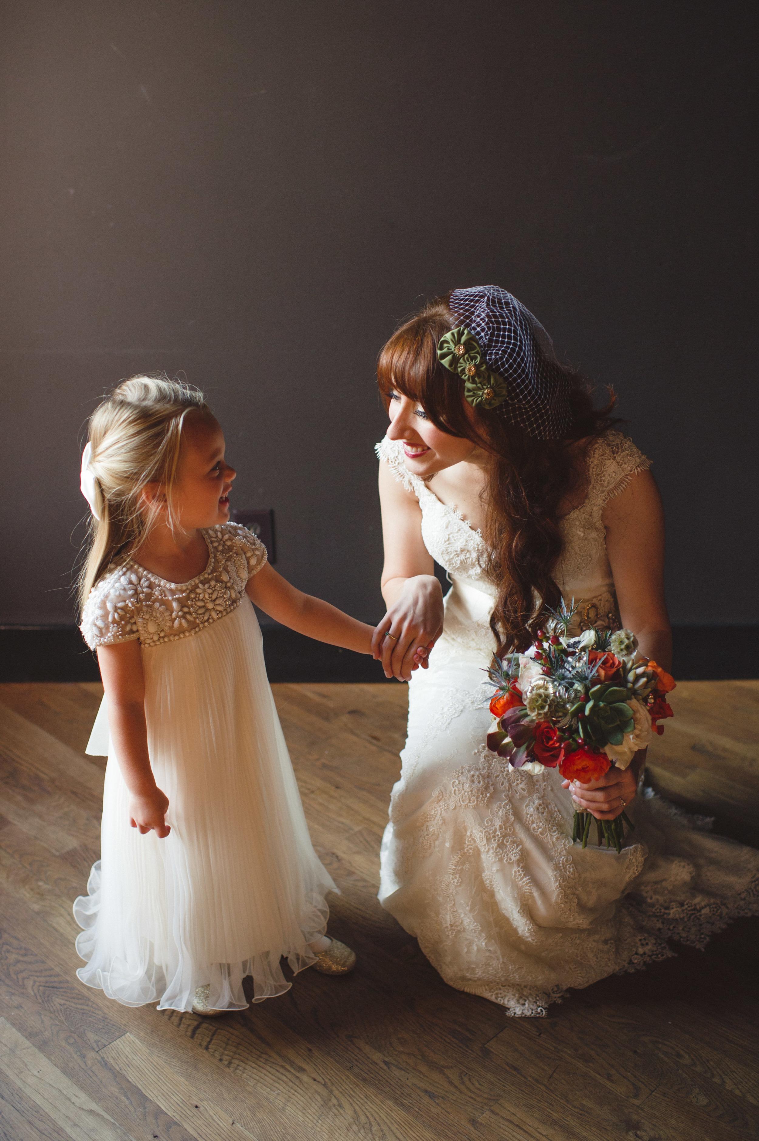 October Bride and Flower Girl