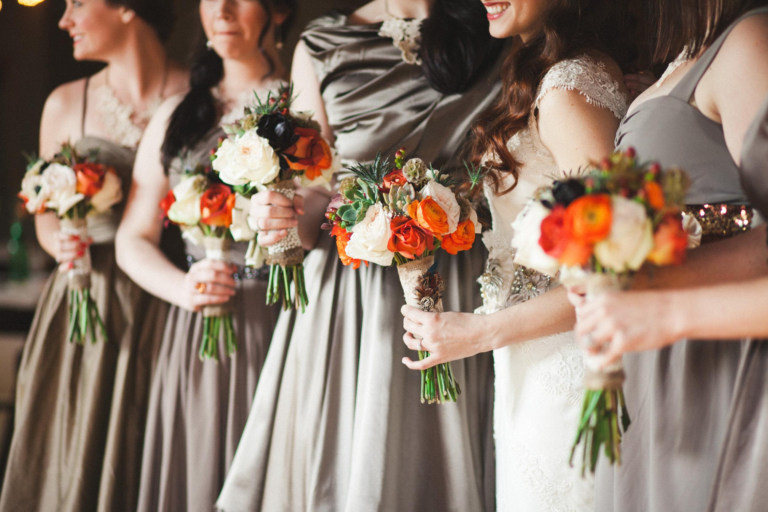 Fall Bridesmaid Bouquets