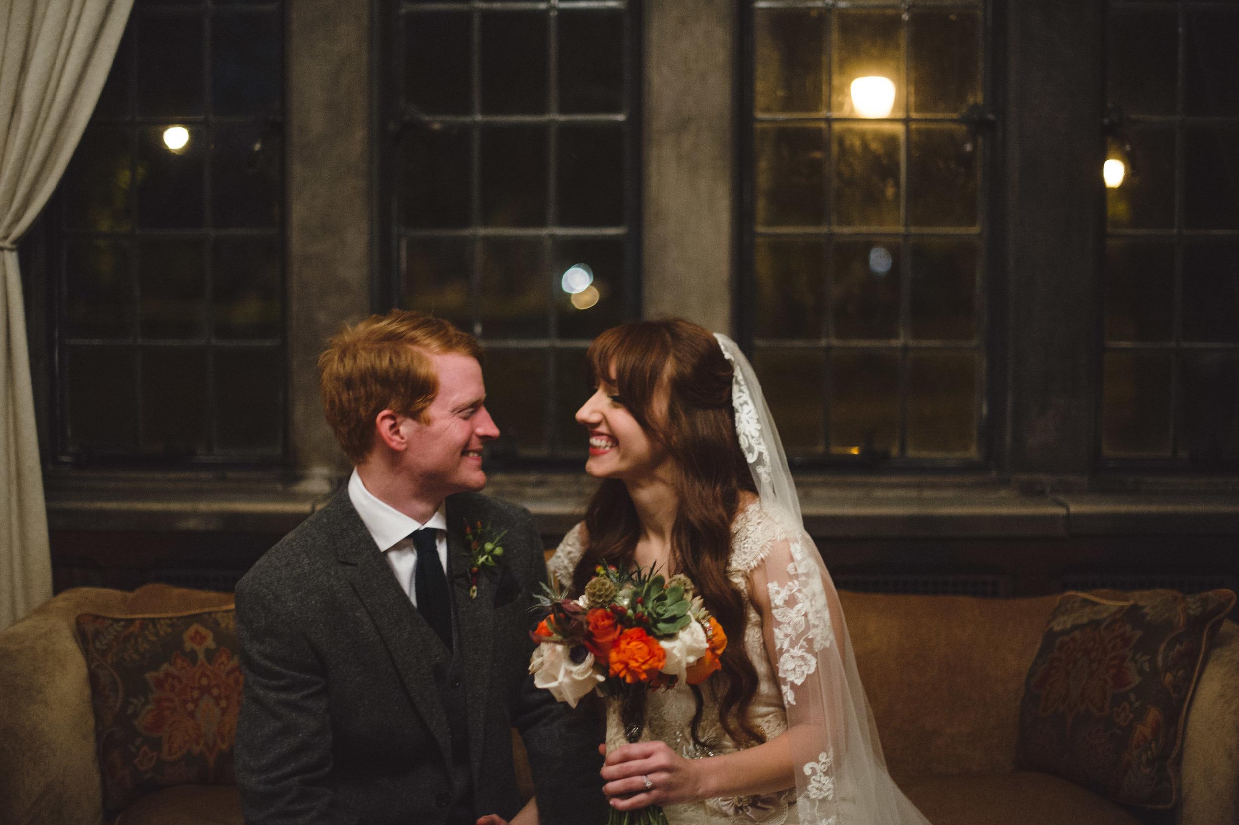 Autumn Bride and Groom