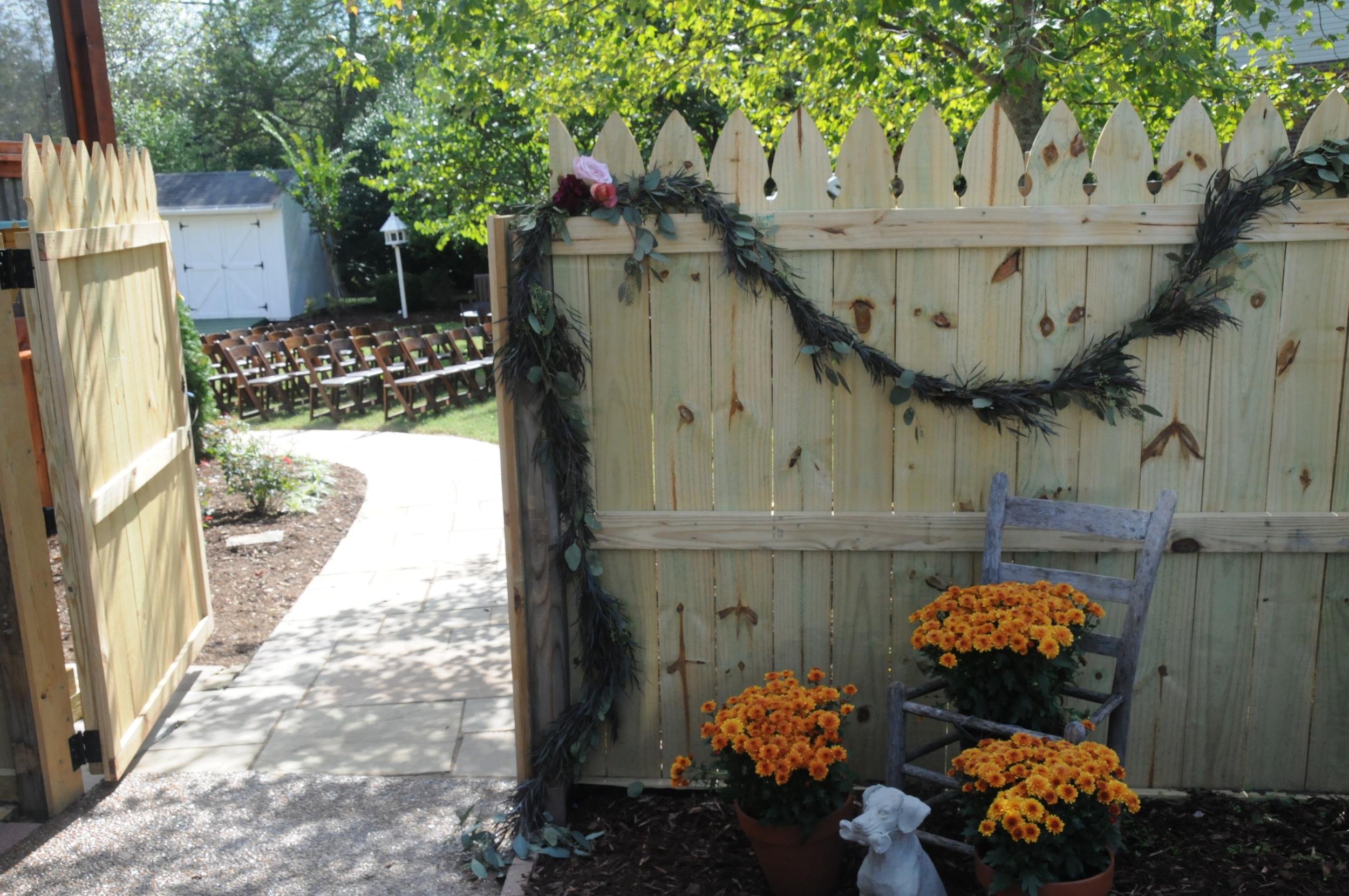 Autumn Garland for a Backyard Wedding