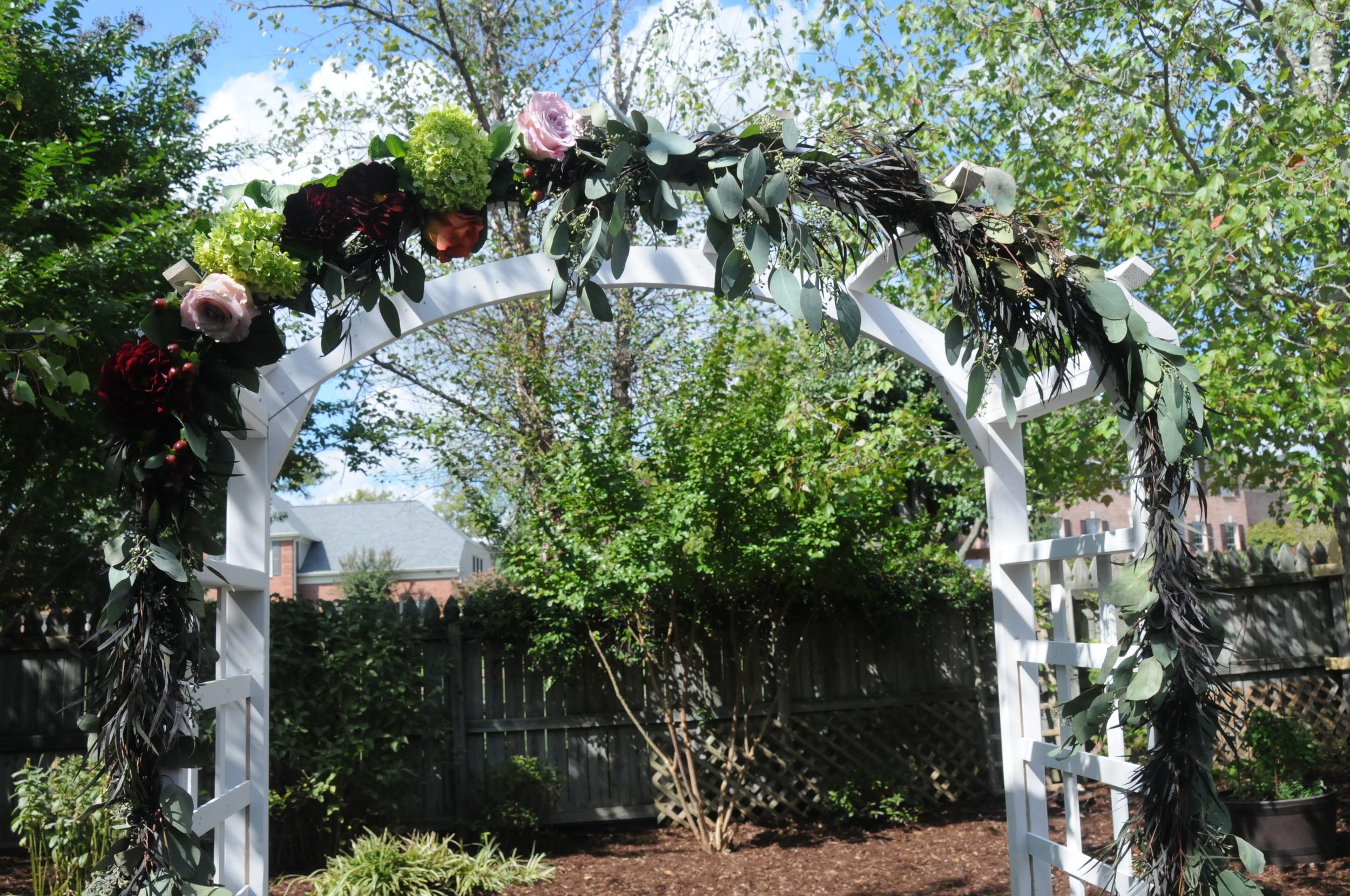 Fall Wedding Flower Arch
