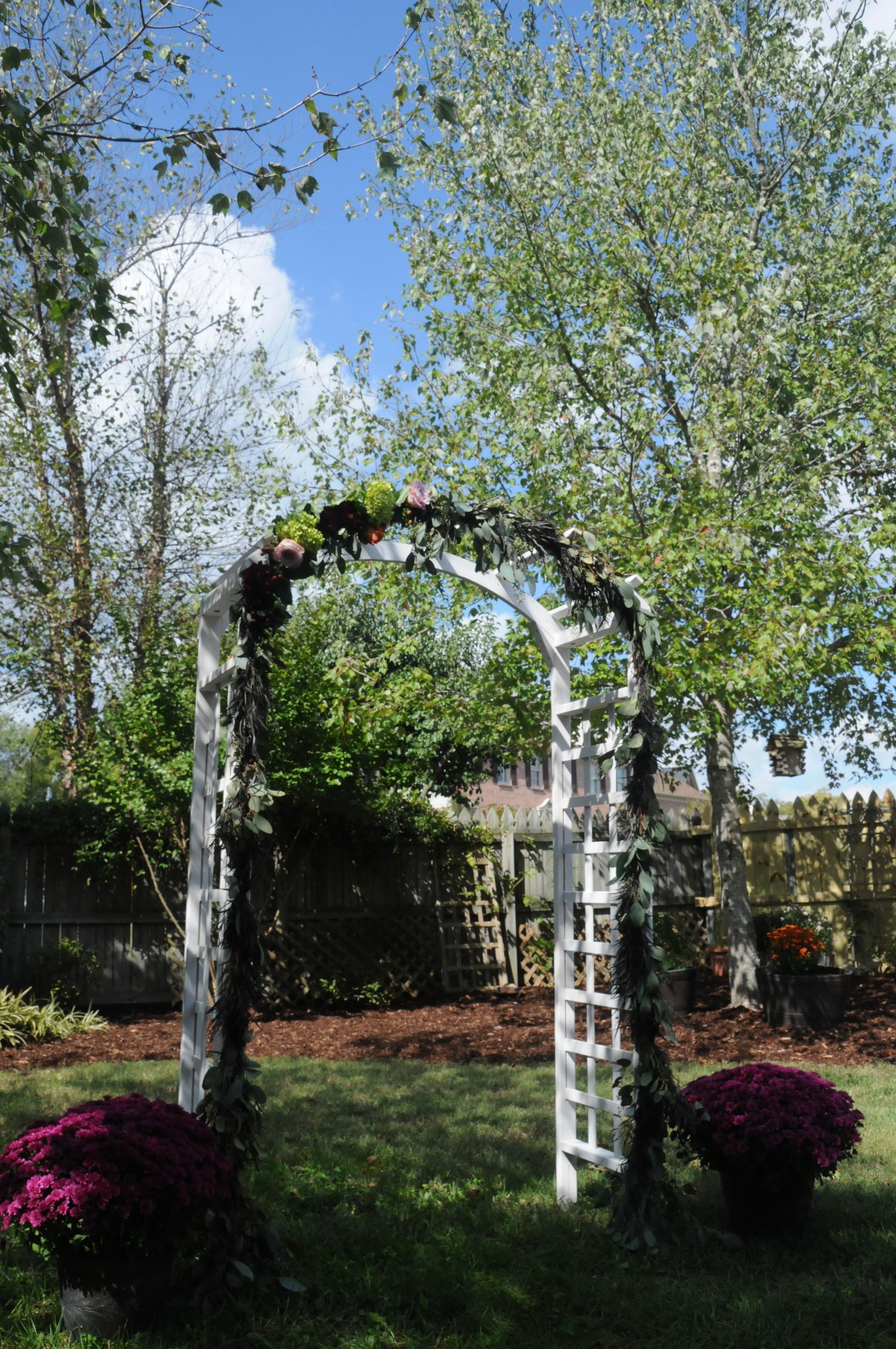Fall Flower Arch