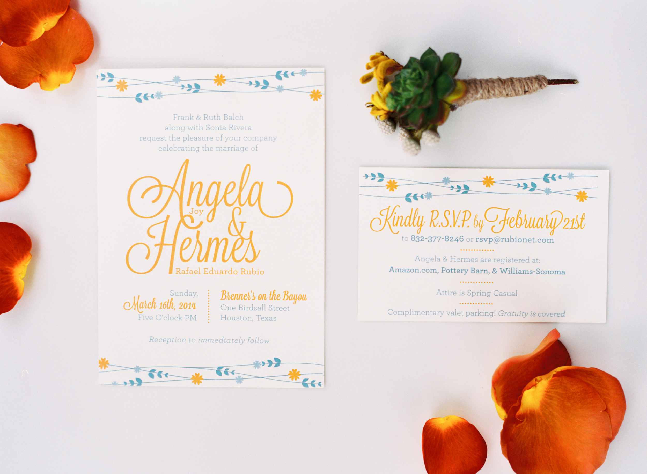 Houston Wedding // Paper by Le Maus // Flowers by Rosemary & Finch // Austin Gros Photography