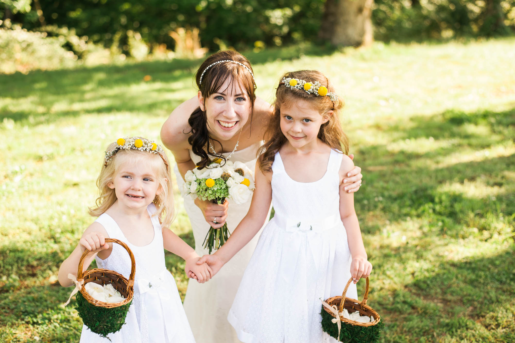 Country TN Wedding // Flower Girls with Flower Crowns