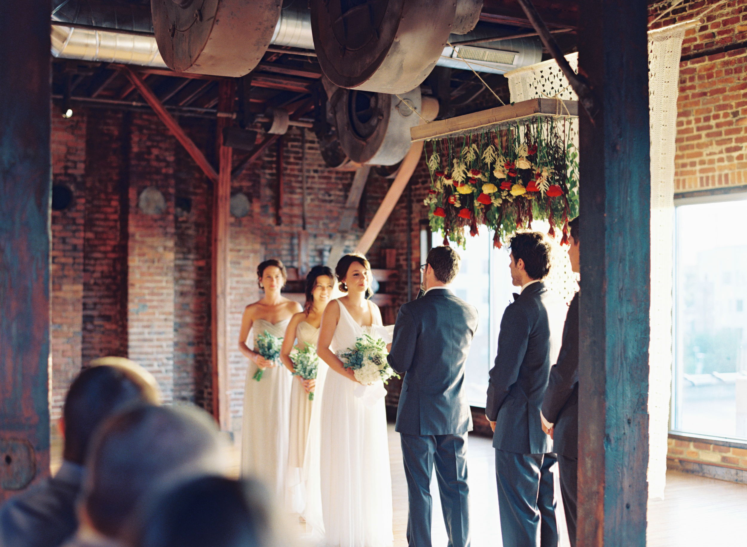 Ceremony Backdrop at Cannery One