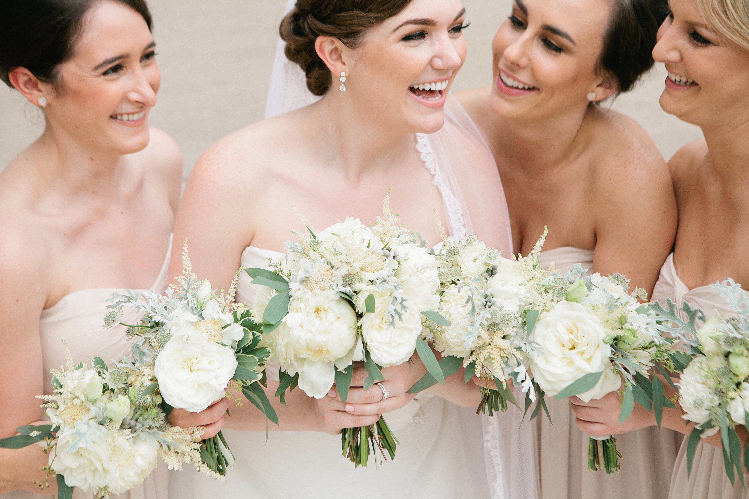 Cream and ivory bouquets