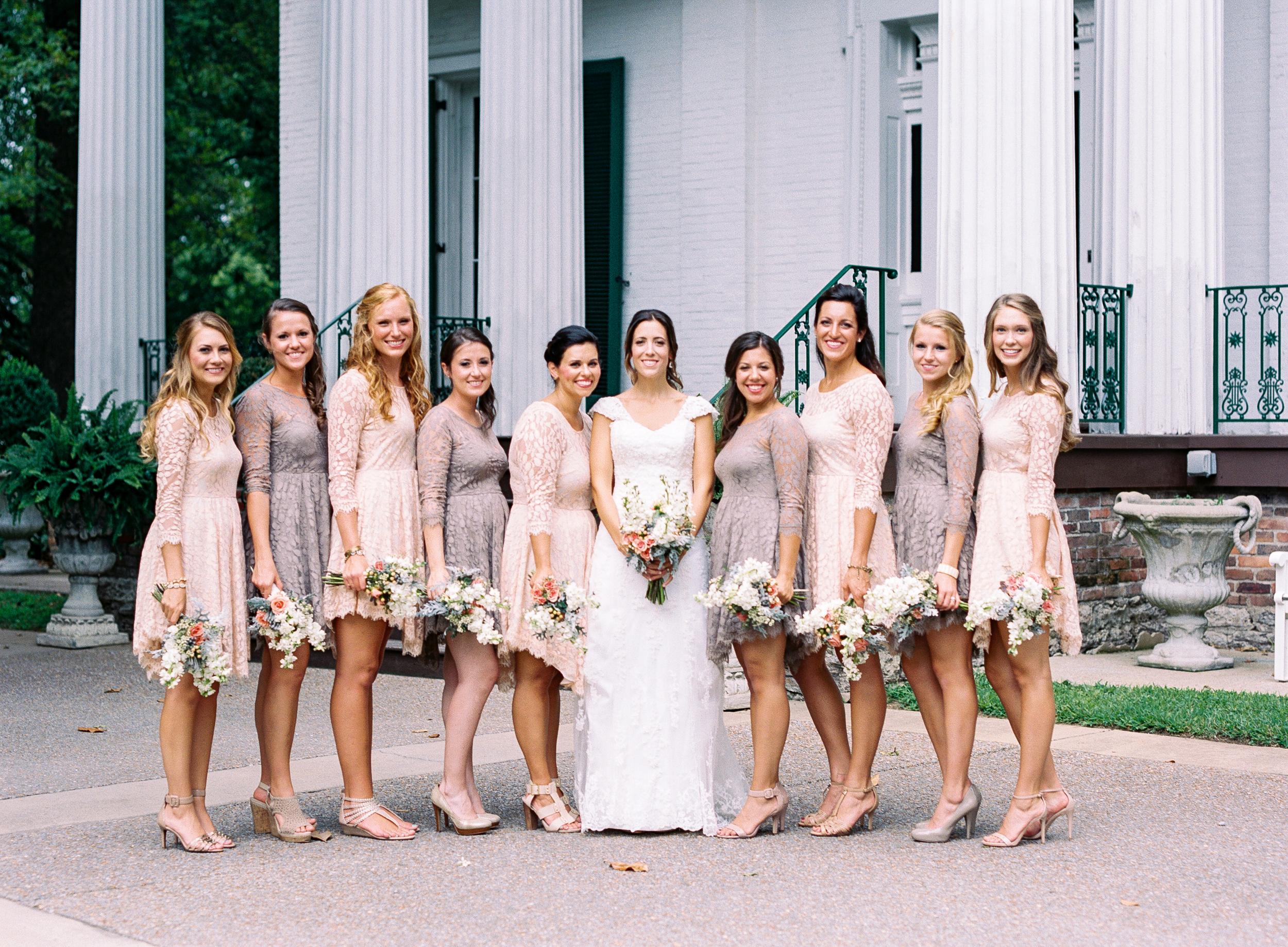 Riverwood Mansion // Bride and Bridesmaids