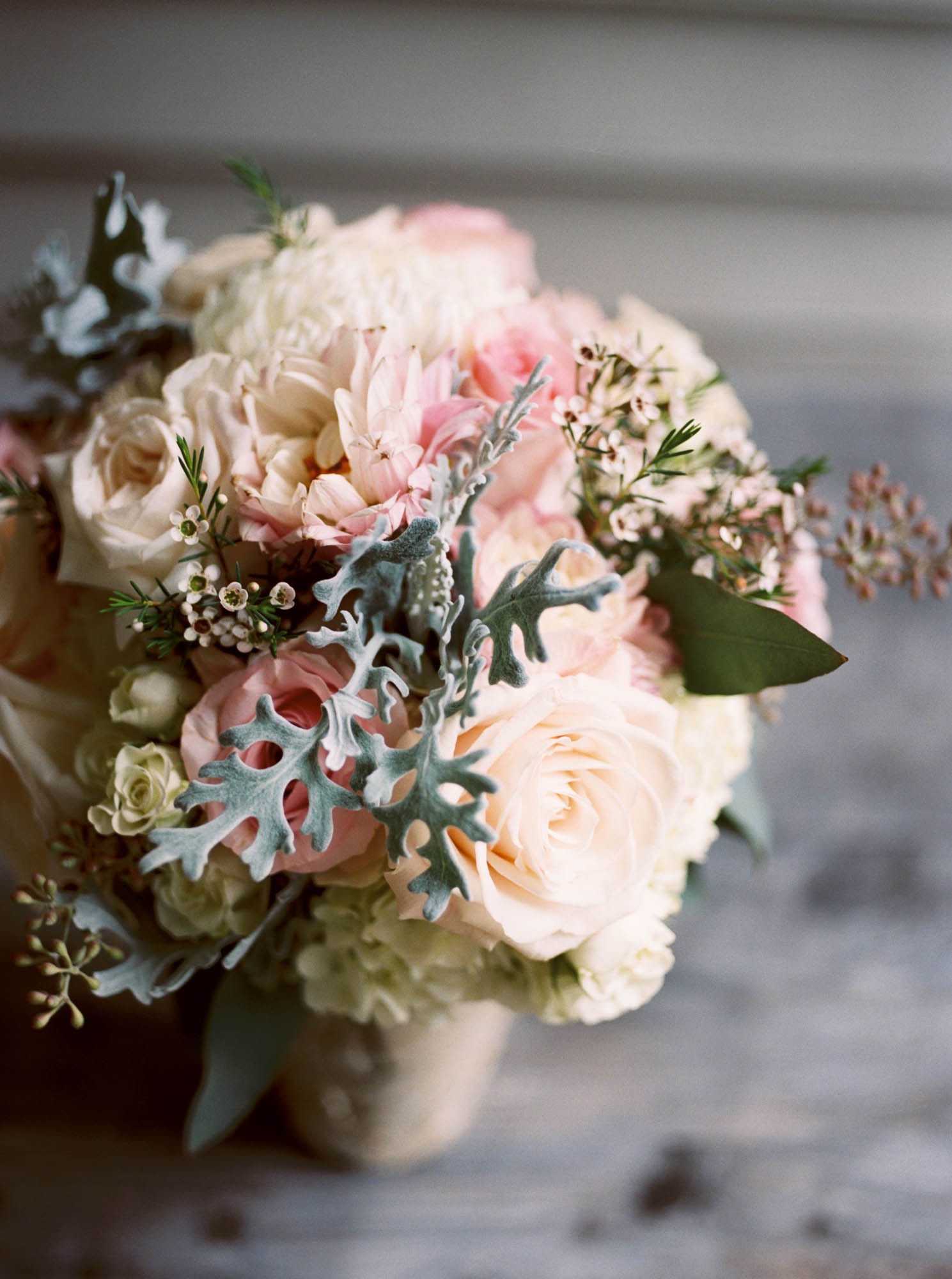 Blush and Cream Bridal Bouquet // Nashville Wedding Flowers