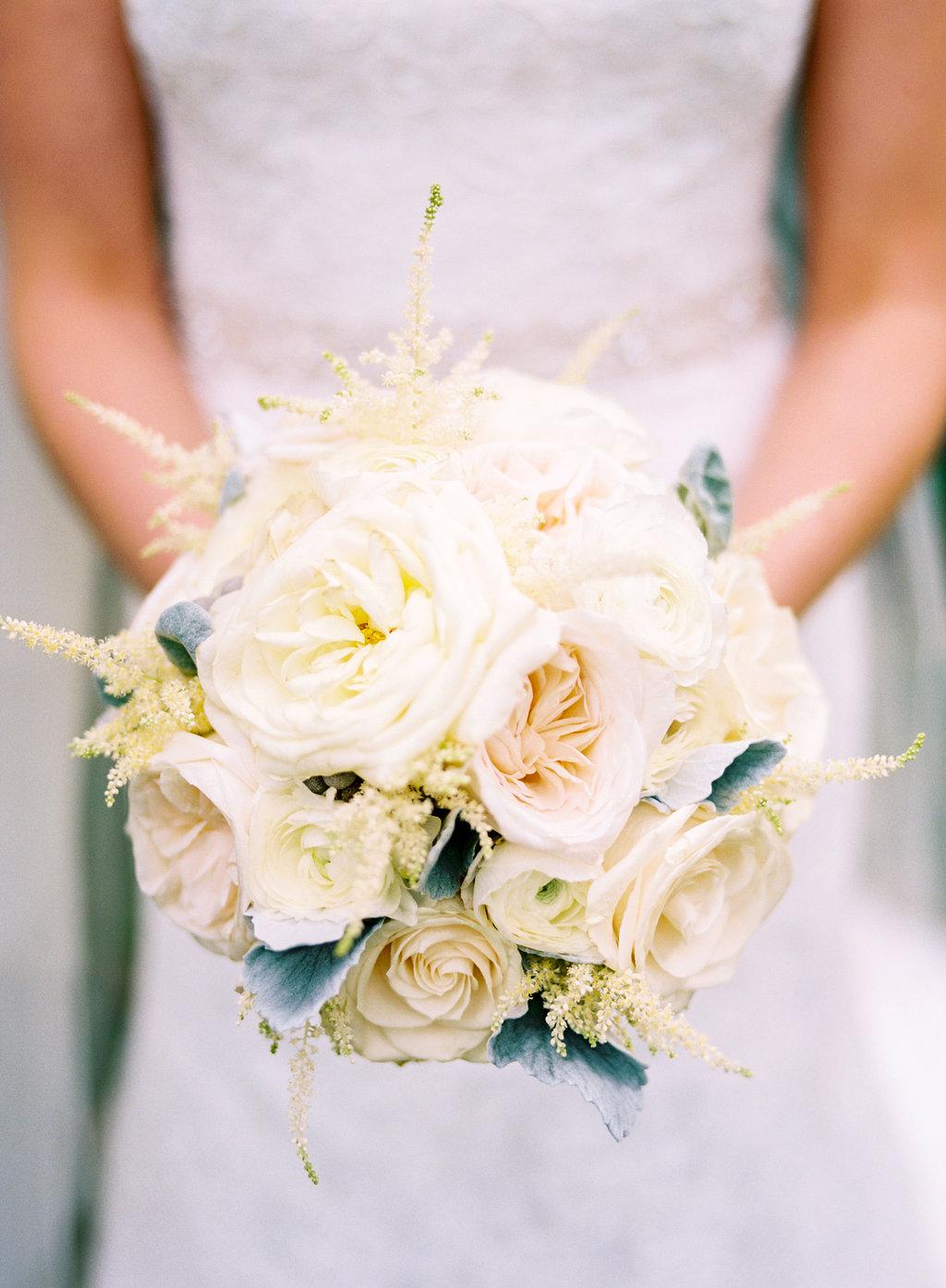 Ivory and Cream Bridal Bouquet // Nashville Wedding Flowers