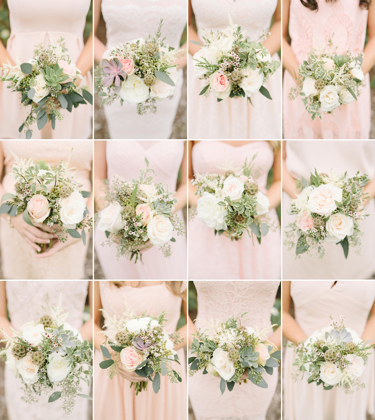 Blush and cream bridesmaid bouquet // Nashville Wedding Flowers