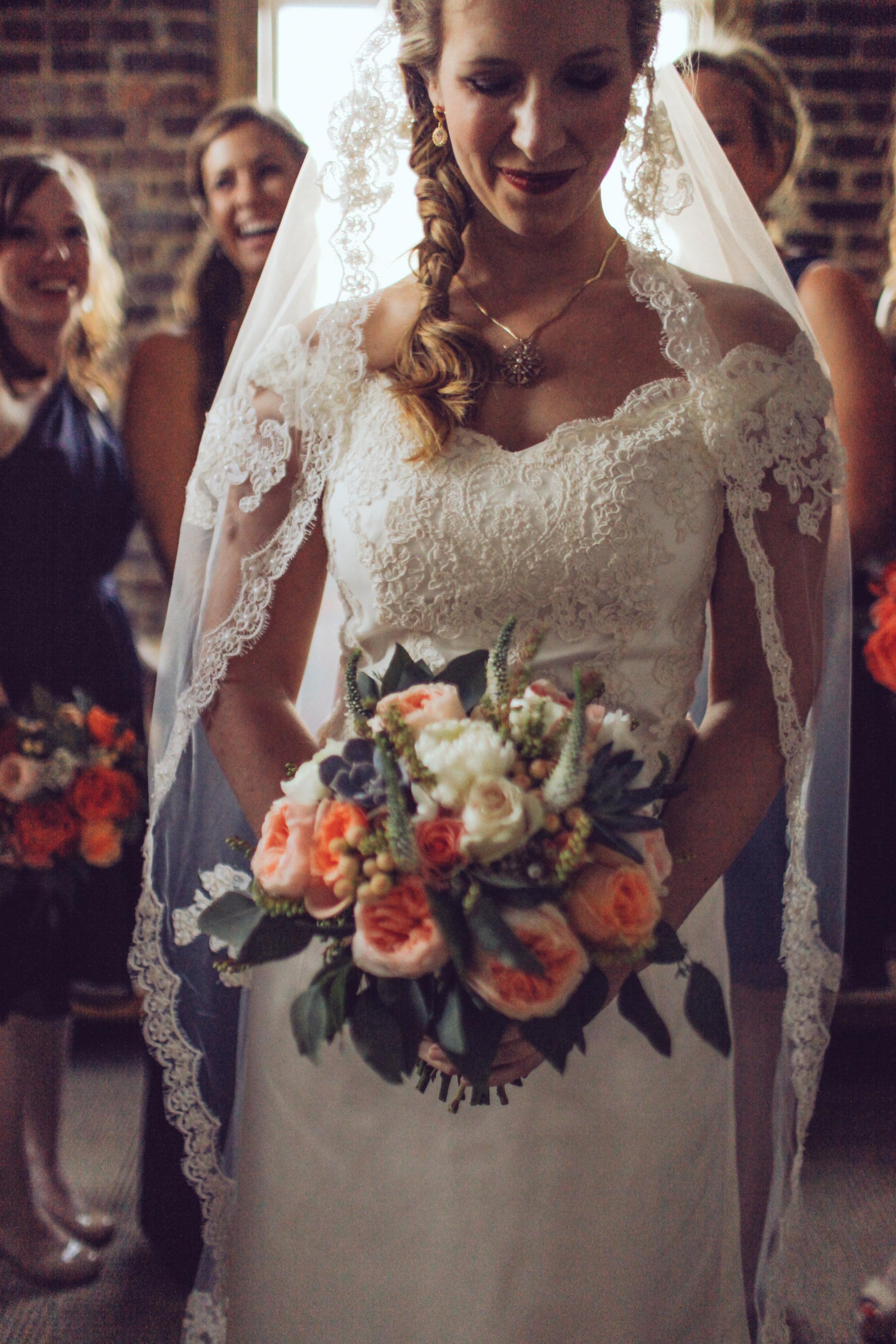 Coral and Peach Wedding Flowers // Nashville Wedding