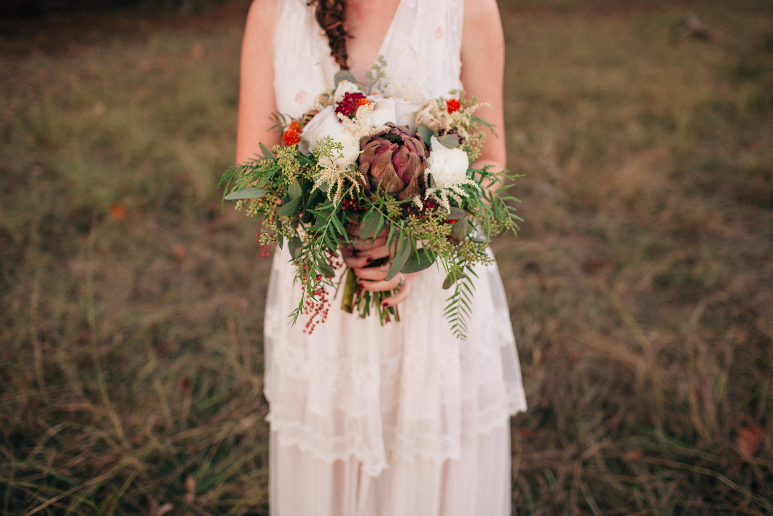 Flowing, natural bridal bouquet // Nashville Wedding Flowers