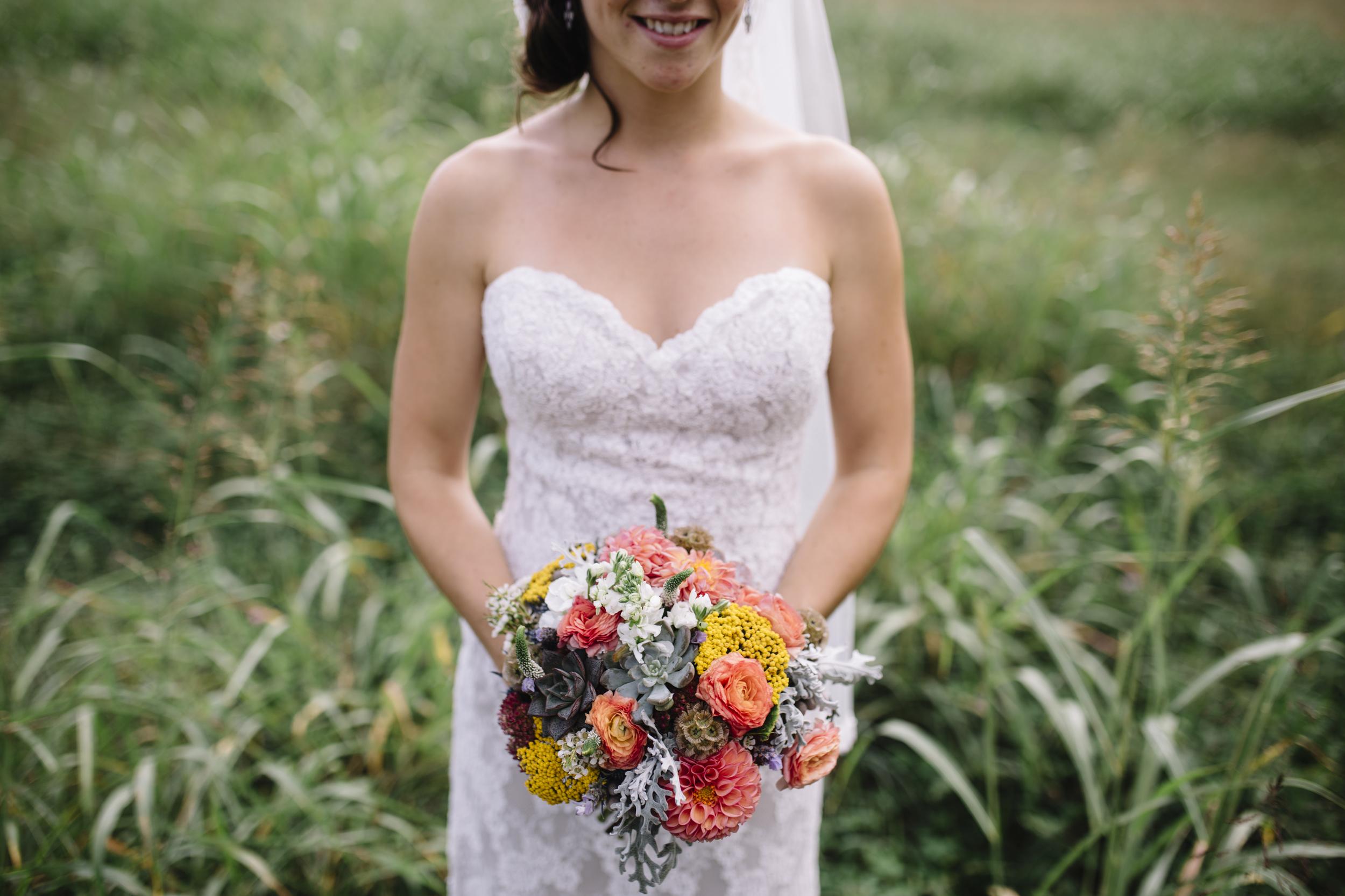 Desert Glow Bridal Bouquet // Chattanooga Wedding Flowers