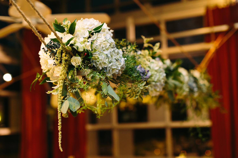 Hanging Floral Arrangement // Nashville Wedding Flowers