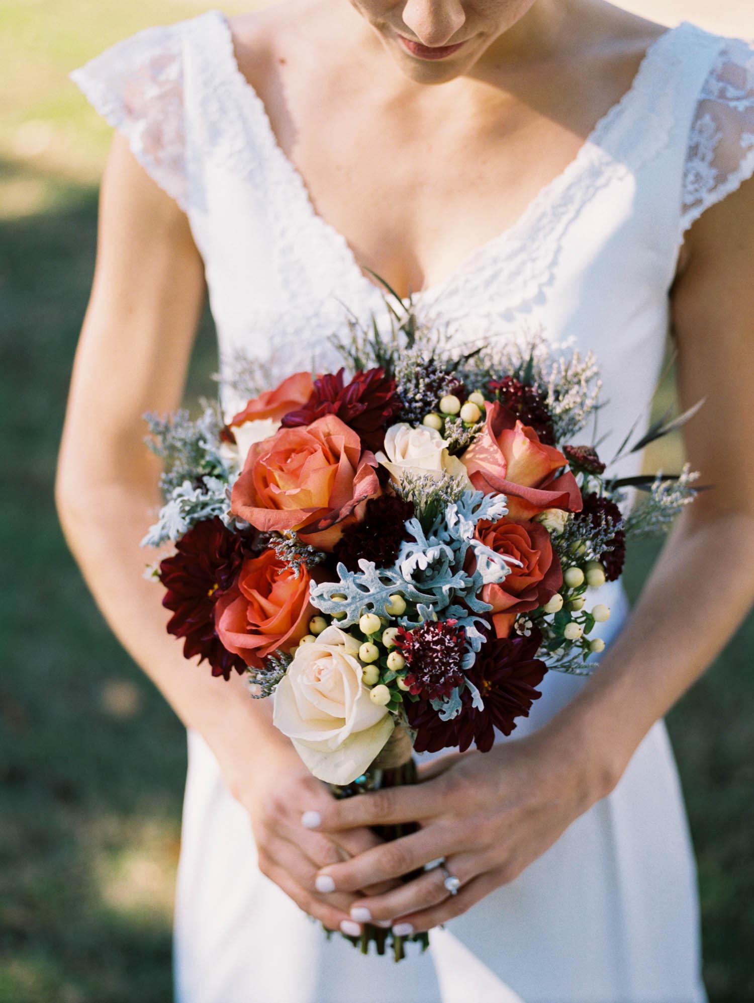 Autumnal bridal bouquet // Nashville wedding florist